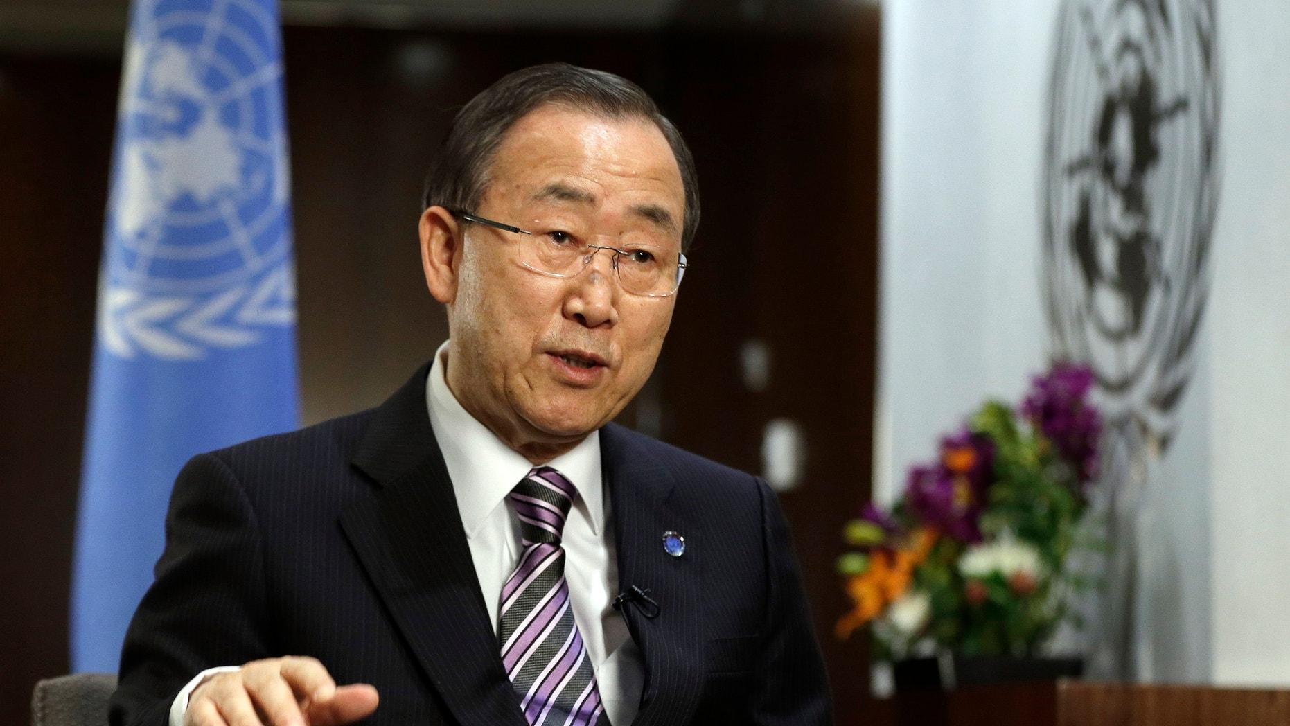 Jan. 11, 2013 - UN Secretary General Ban Ki-moon at UN headquarters