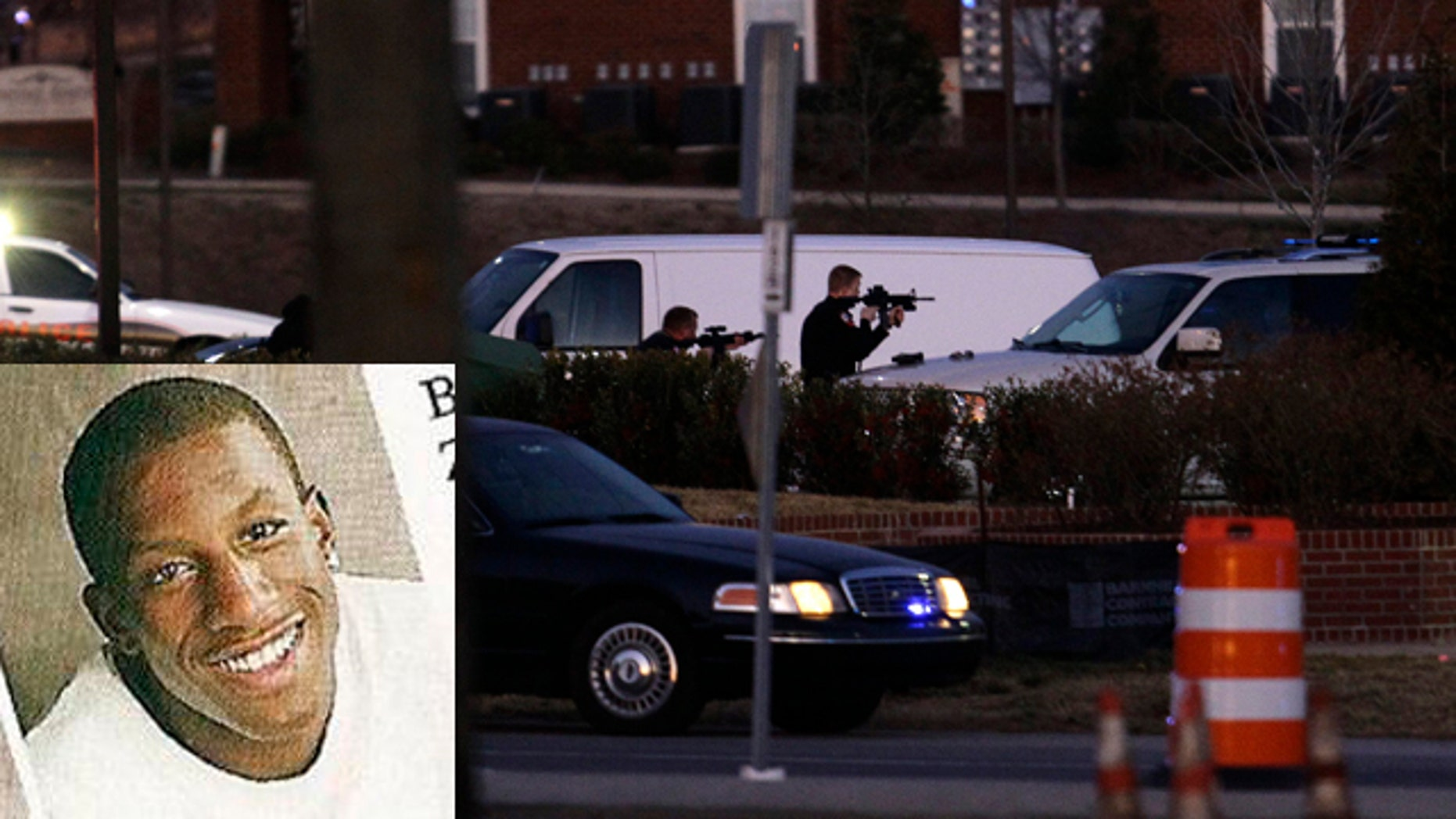 Devon Mitchell was shot after he walked out of the Wachovia bank with a gun pressed to the head of a female hostage