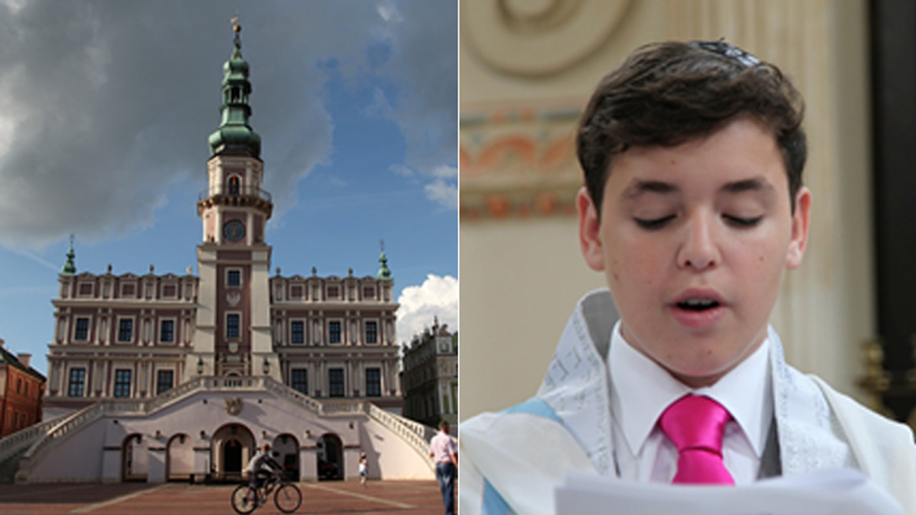 Zamosc Synagogue in Poland had not hosted a Jewish ceremony in more than 75 years, until New Yorker Jacob Wisnik traveled to his grandfather's hometown for his Bar Mitzvah.