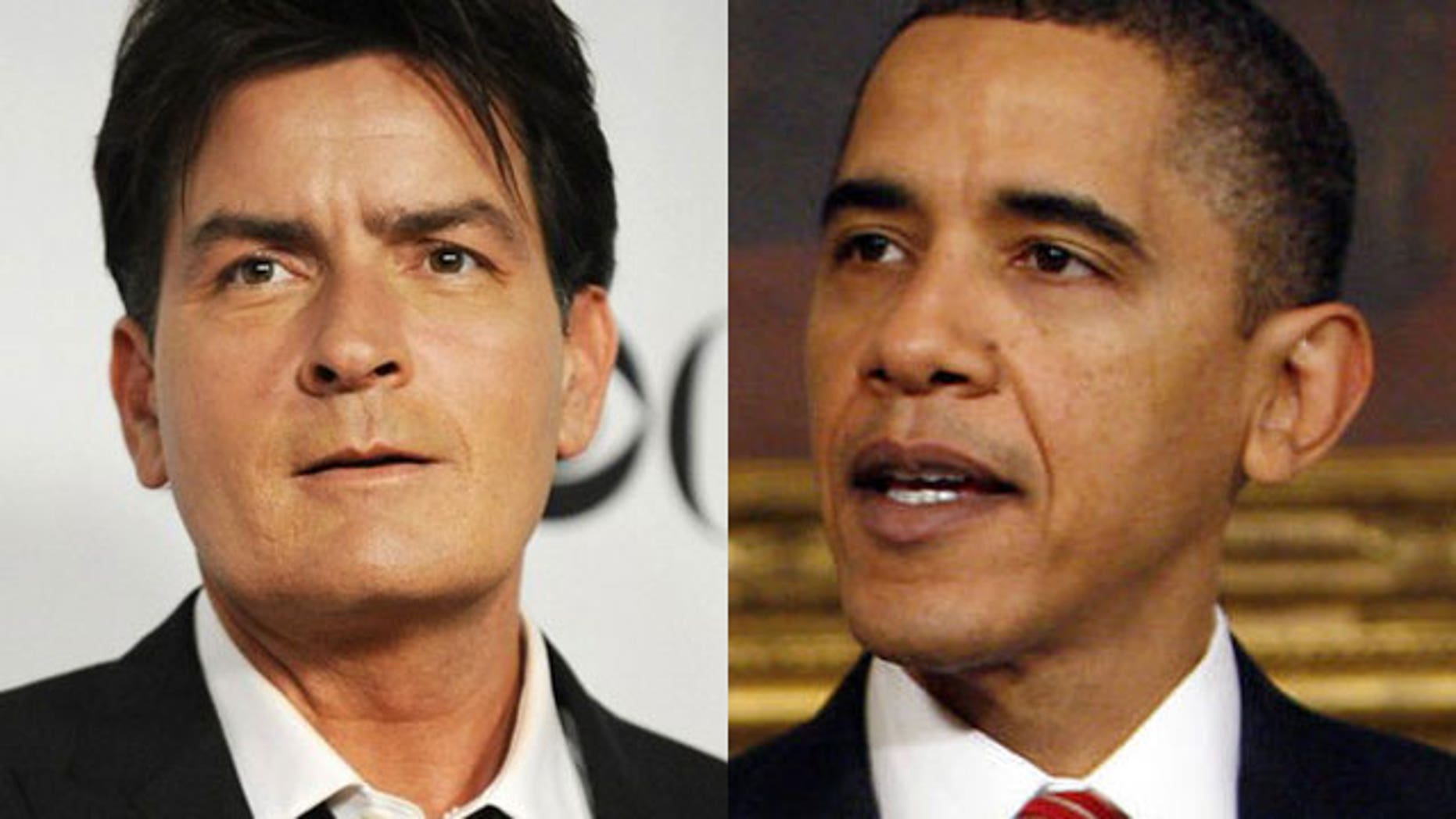 Charlie Sheen implied to crowds in Washington D.C. that Obama's birth certificate is 'Photoshopped.'