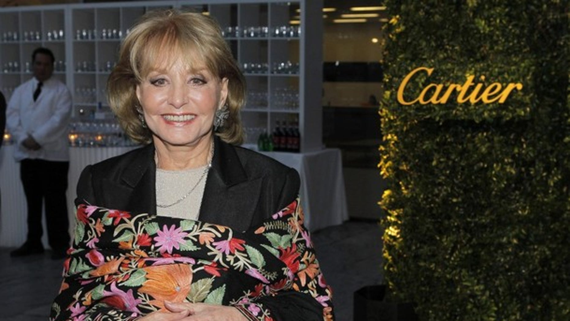 "May 22: Broadcast journalist Barbara Walters attends the Museum of Modern Art's ""Party in the Garden"" dinner in New York City."