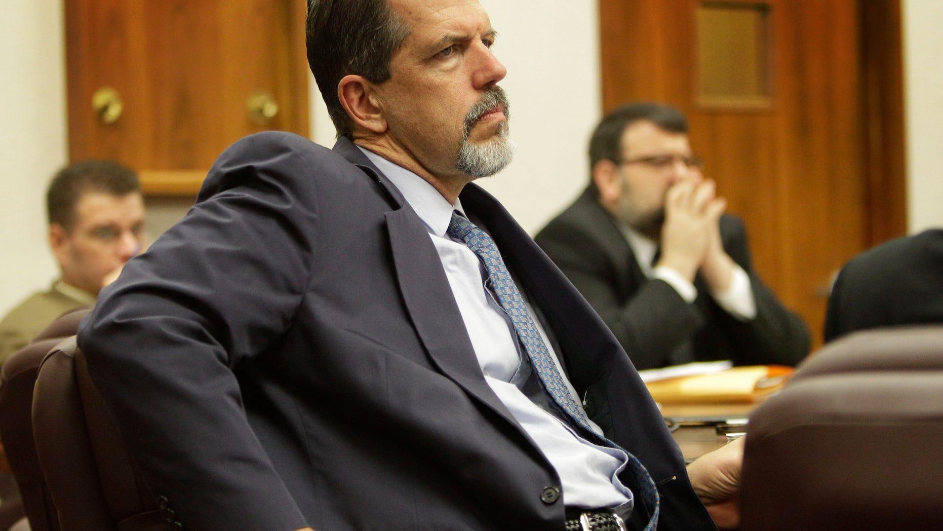 November 18, 2010: Asst. Attorney General Barry Disney prosecutes the Adam Longoria trail in Great Bend, Kansas.
