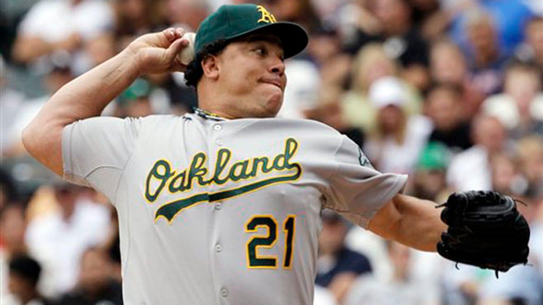 File photo, Oakland Athletics starter Bartolo Colon