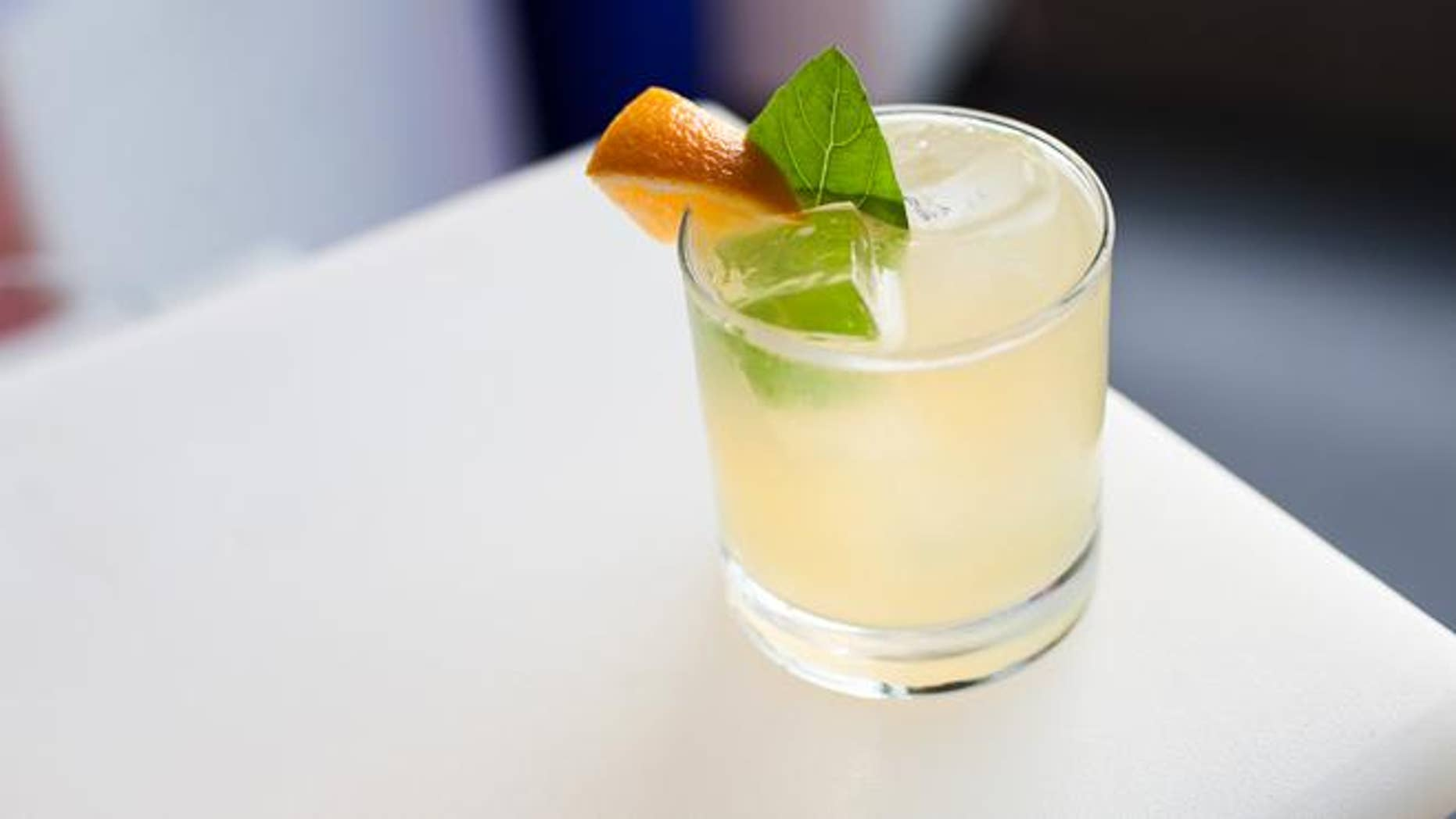 The new Basil Expedition cocktail made with Brugal rum.