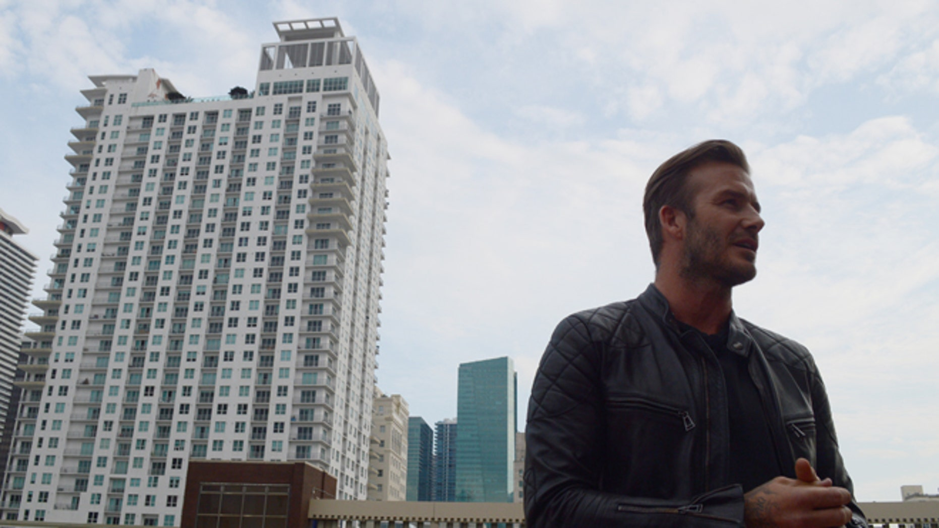 FILE: March 24, 2014: David Beckham in downtown Miami to bring pro soccer and a stadium to the city.