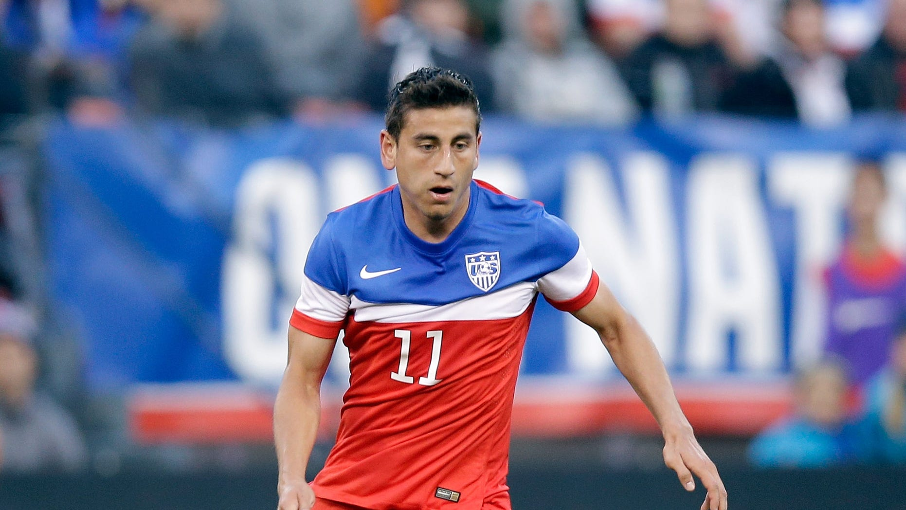 SAN FRANCISCO, CA - MAY 27:  Alejandro Bedoya #11 of the United States in action against Azerbaijan during their match at Candlestick Park on May 27, 2014 in San Francisco, California.  (Photo by Ezra Shaw/Getty Images)
