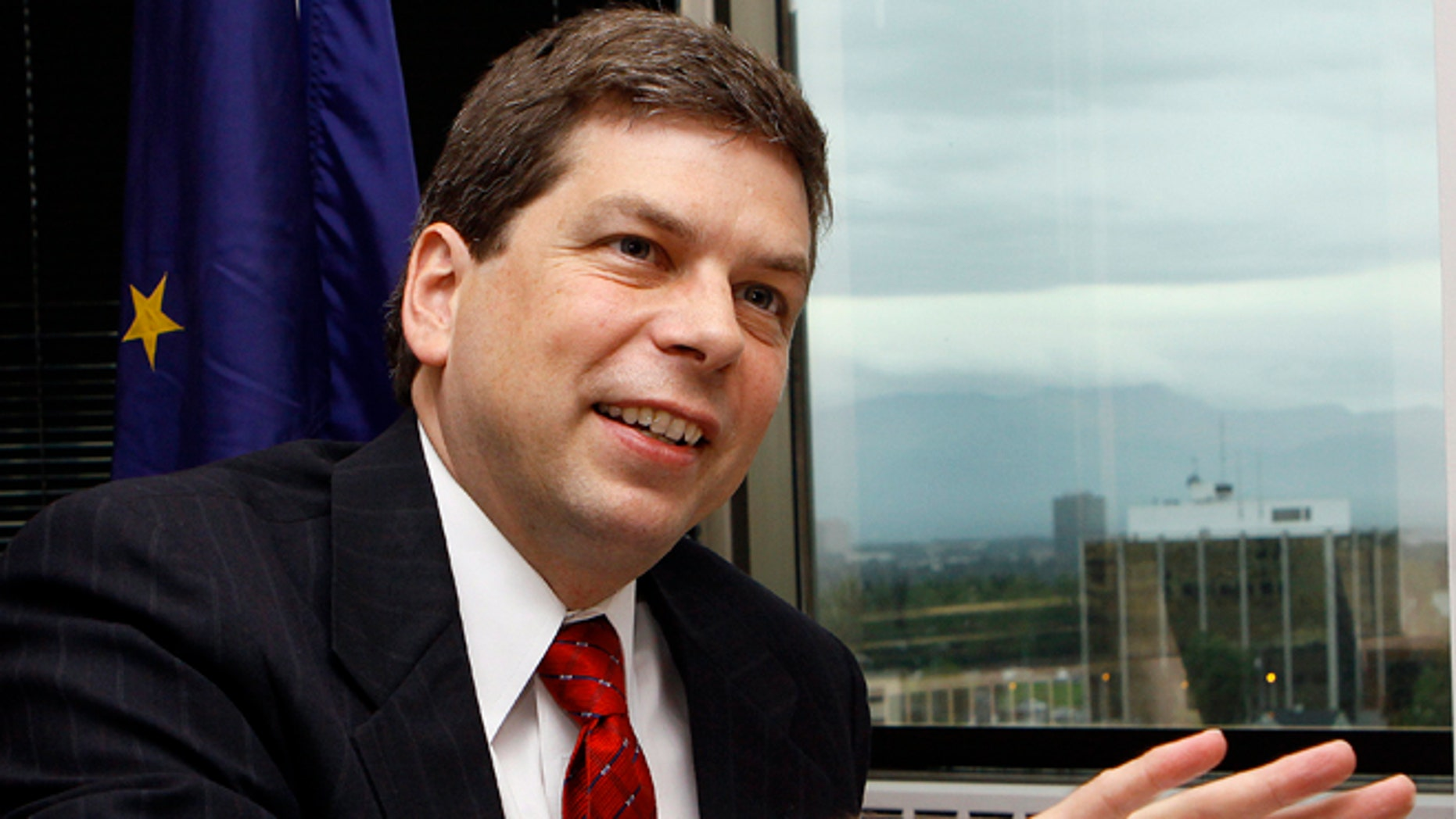FILE: Udated: Sen. Mark Begich, D-Alaska, talks about his trip on Wednesday to Bethel and Hooper Bay in Anchorage, Alaska. Far from reversing course, Senate Democrats who backed President Barack Obamas health care law and now face re-election in GOP-leaning states are reinforcing their support for the overhaul even as Republicans intensify their criticism. Begich, Mark Pryor of Arkansas, Mary Landrieu of Louisiana and Kay Hagan of North Carolina will face voters in 2014 for the first time since voting for the Affordable Care Act _ commonly called Obamacare _ three years ago. (AP Photo/Al Grillo, File)