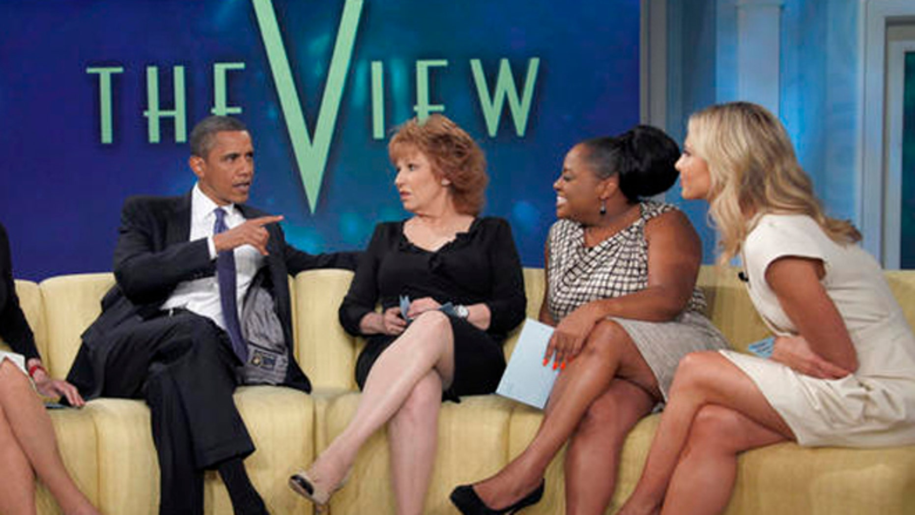 """File: July 28, 2010: President Barack Obama appears on the ABC's television show """"The View."""""""