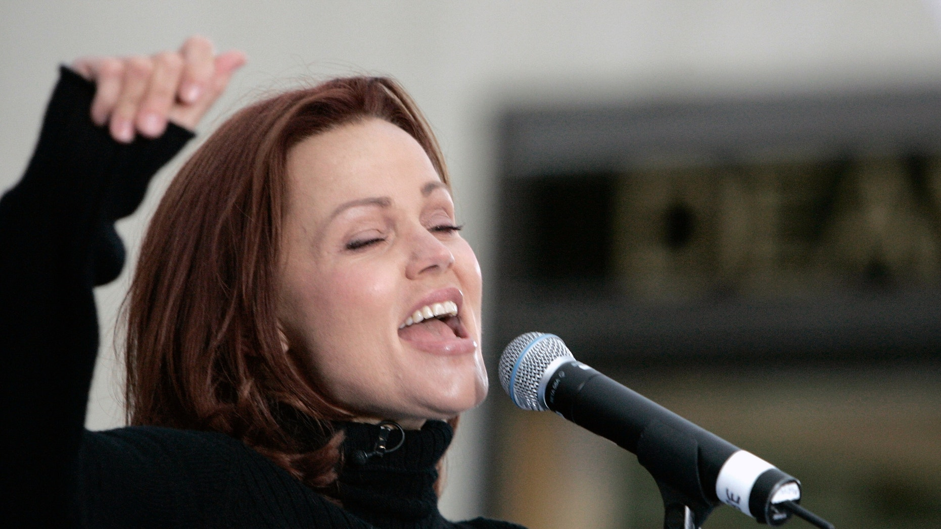 "Belinda Carlisle of the Go-Go's, performs on NBC's ""Today"" show at Rockefeller Center in New York May 19, 2006."