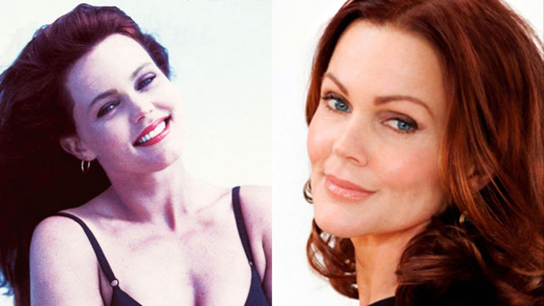 Belinda Carlisle, left, during her years struggling with addiction and right on the cover of her new memoir.
