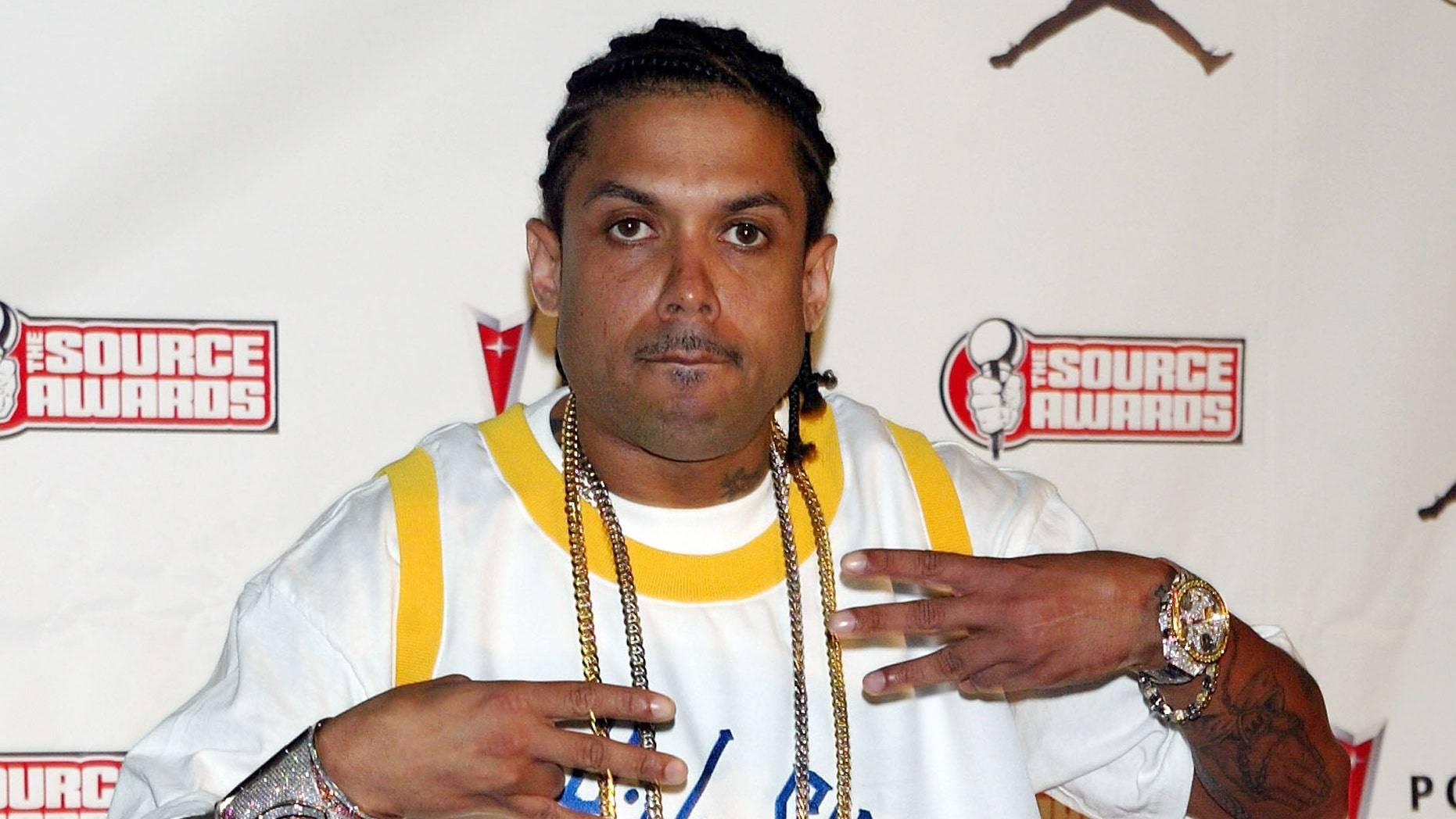MIAMI - OCTOBER 13:  Rapper Benzino arrives at The Source Hip-Hop Music Awards 2003 at the Miami Arena on October 13, 2003 in Miami, Florida. The show will air on the BET network on November 11, 2003 at 8:00 p.m.  (Photo by Scott Gries/Getty Images)