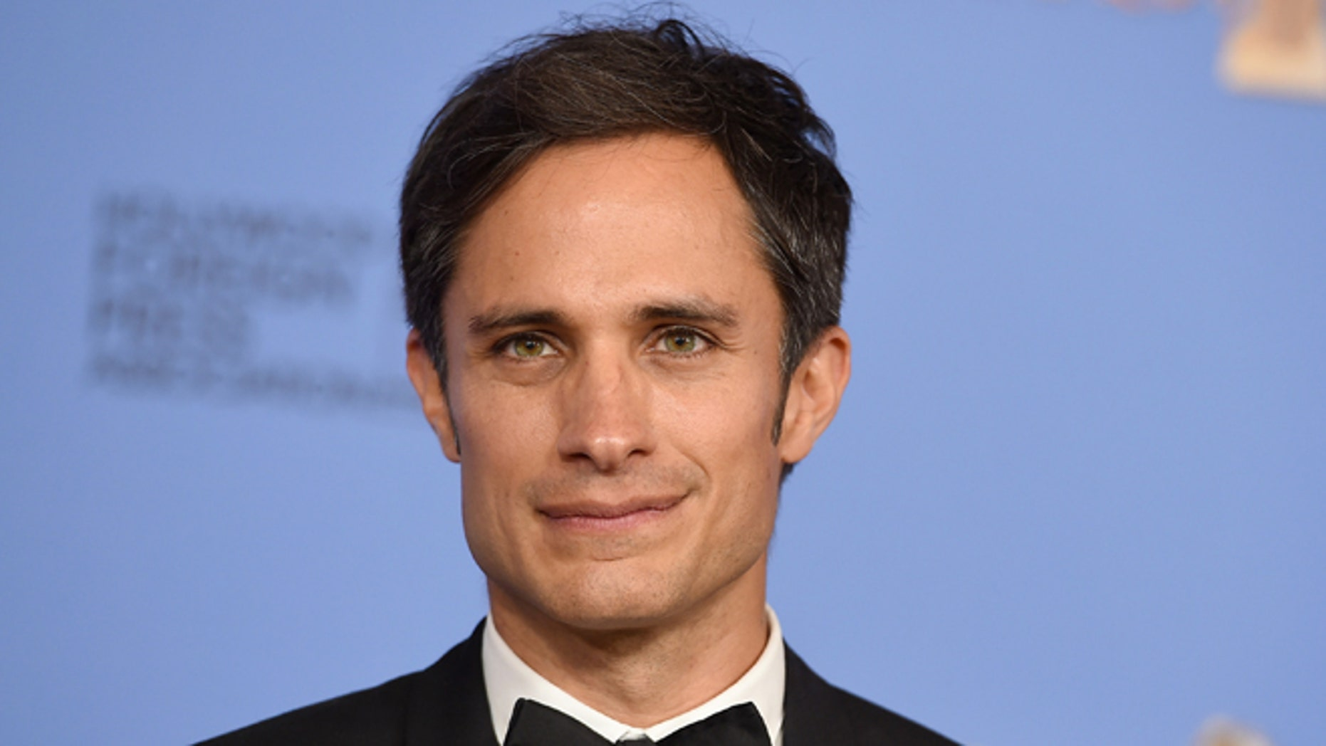 FILE - In this Jan. 10, 2016 file photo, Gael García Bernal poses in the press room after winning the award for best actor in a television series - musical or comedy for Mozart in the Jungle at the 73rd annual Golden Globe Awards in Beverly Hills, Calif. (Photo by Jordan Strauss/Invision/AP, File)