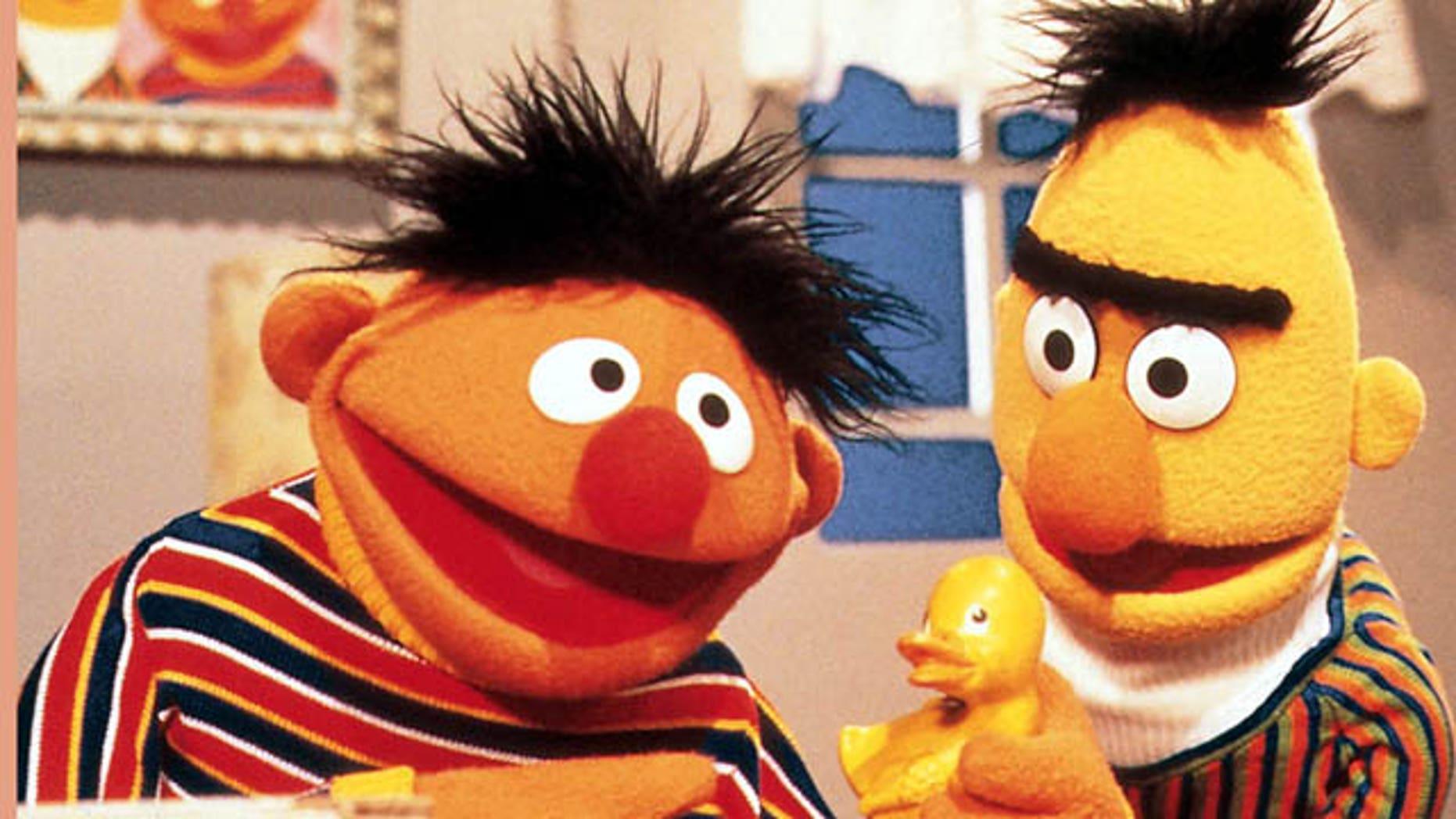 'Sesame Street' puppets Bert and Ernie