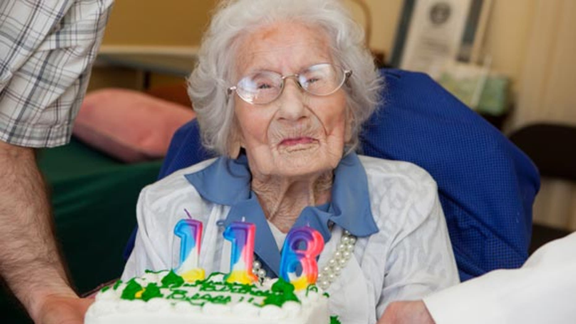 Besse Cooper celebrates her birthday in Georgia.
