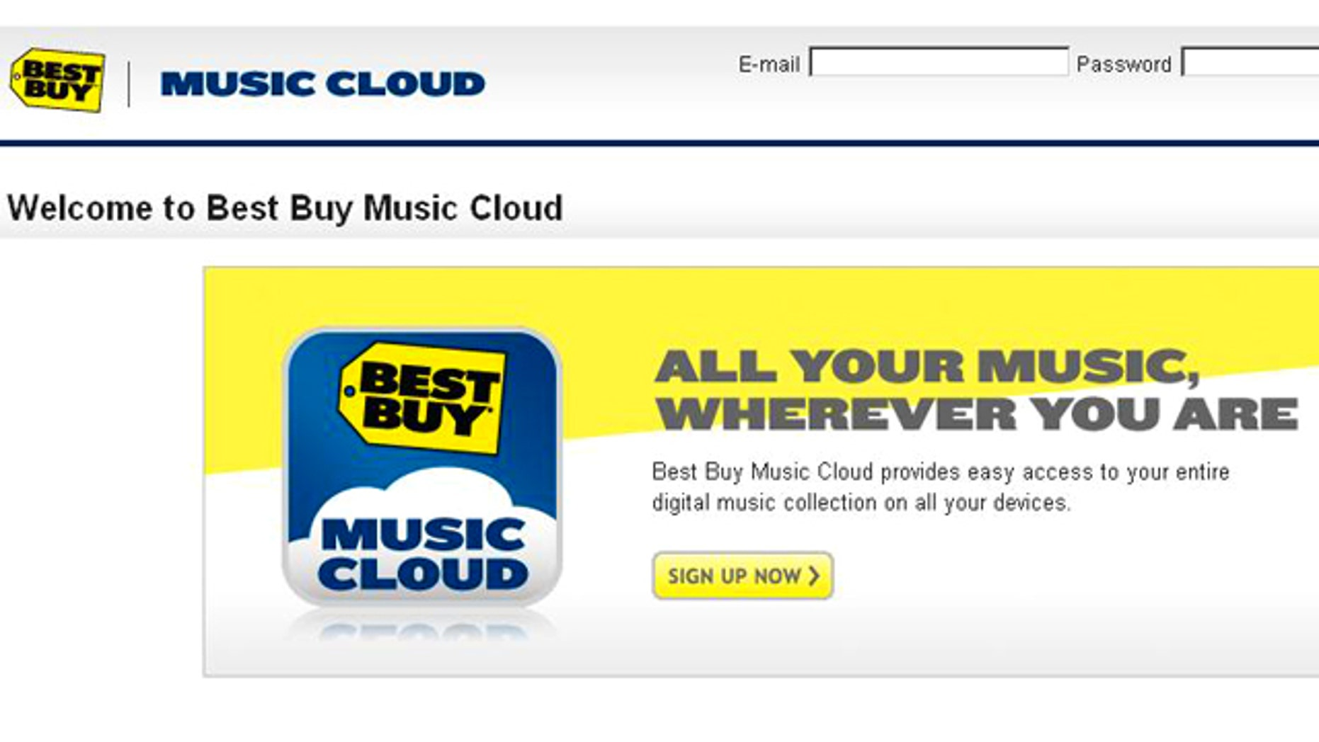 Best Buy's new Music Cloud service is the latest service to offer online music access.