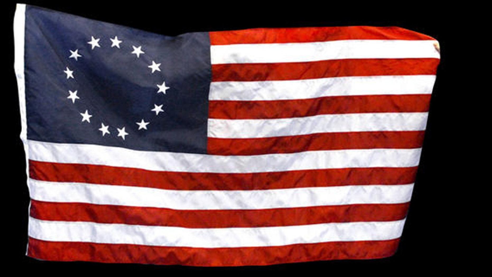"""Replica of the """"Betsy Ross"""" US flag. (AP)"""