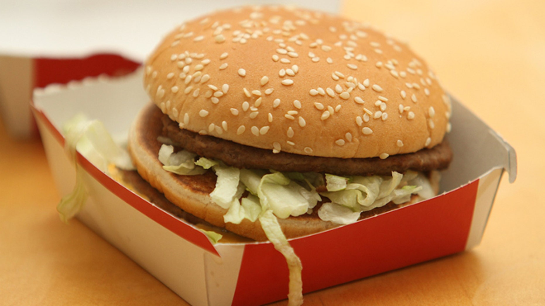 A McDonald's Big Mac burger. (Photo by Worldwide Features / Barcroft Media / Getty Images)
