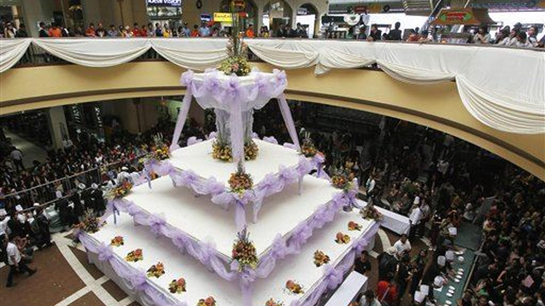 If you need a wedding cake as big as this one, from the northern Philippines, you may be in for an excellent marriage.