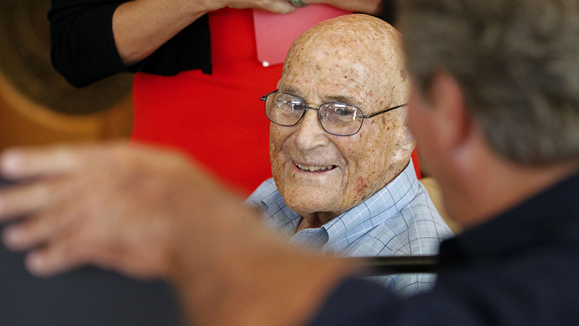 Bill Vogt, 105, who graduated from San Diego State University in 1935, received his diploma on Thursday, August 16, 2018.