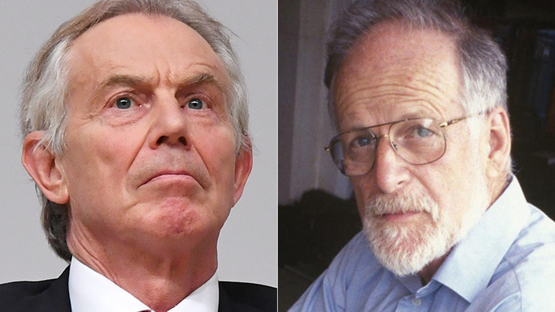 Author Miles Goslett told Fox News that his main objective is to push for an independent investigation into what really killed David Kelly, pictured here alongside former Primer Minister Tony Blair.