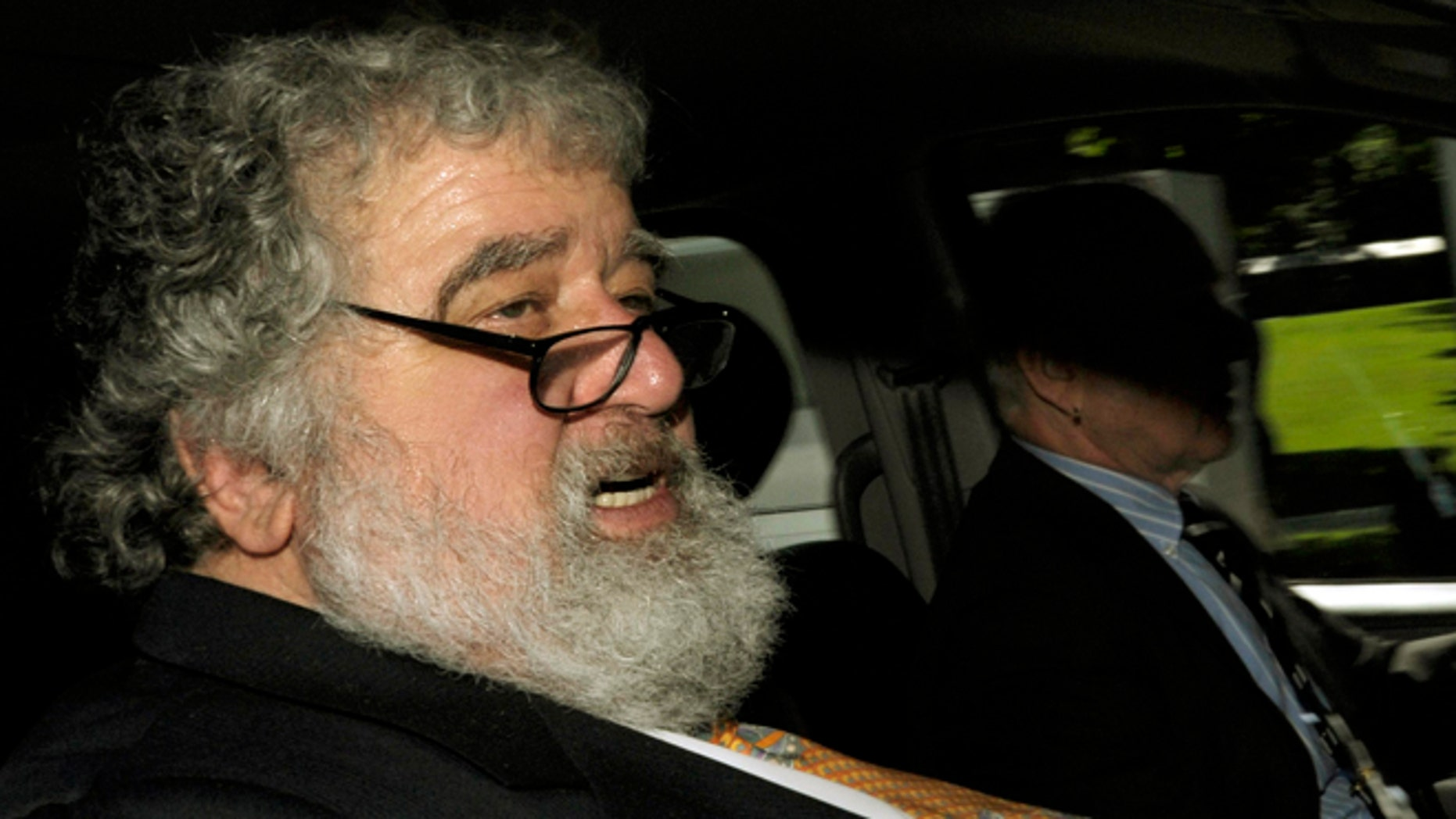 FILE - In this May 29, 2011 file photo FIFA official Chuck Blazer leaves the FIFA headquarters in Zurich, Switzerland. As it was announced Thursday, July 9, 2015 FIFA's ethics committee has expelled former executive committee member Blazer from football for bribery and other corruption. (Steffen Schmidt/Keystone via AP, File)