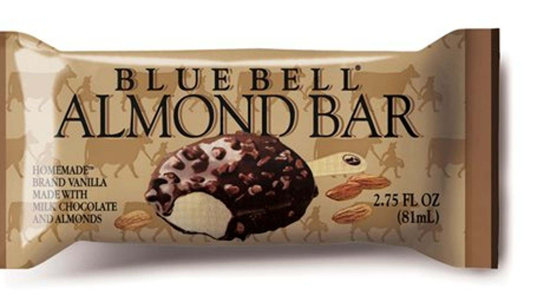 This undated photo provided by Blue Bell shows Blue Bell  Almond Bar. (AP Photo/Blue Bell)