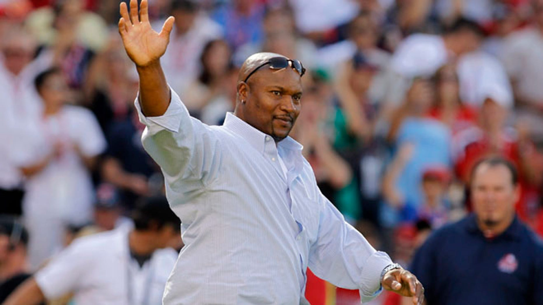 July 12: Former NFL and Major League Baseball player Bo Jackson comes out to throw a ceremonial first pitch for Major League Baseball's Home Run Derby at the All-Star Game in Anaheim, California.