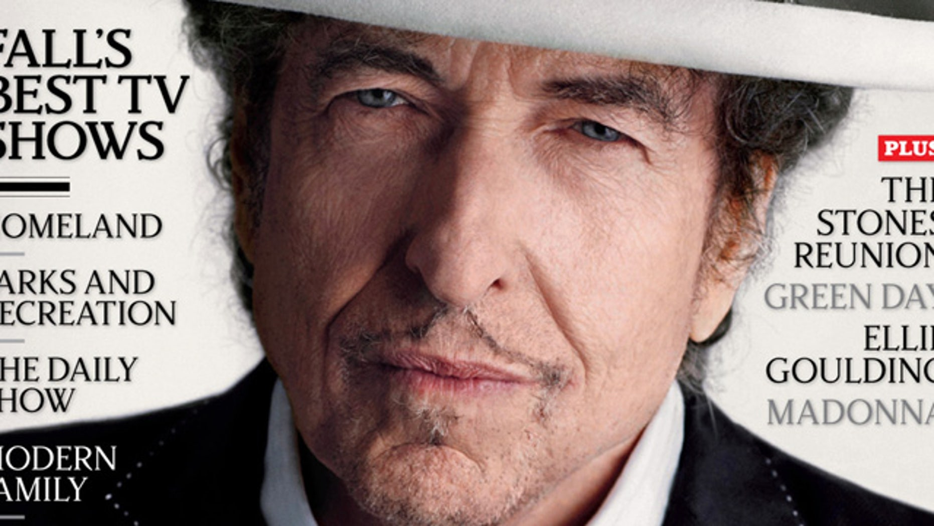Bob Dylan appears on the cover of the Oct. 2012 issue of Rolling Stone.