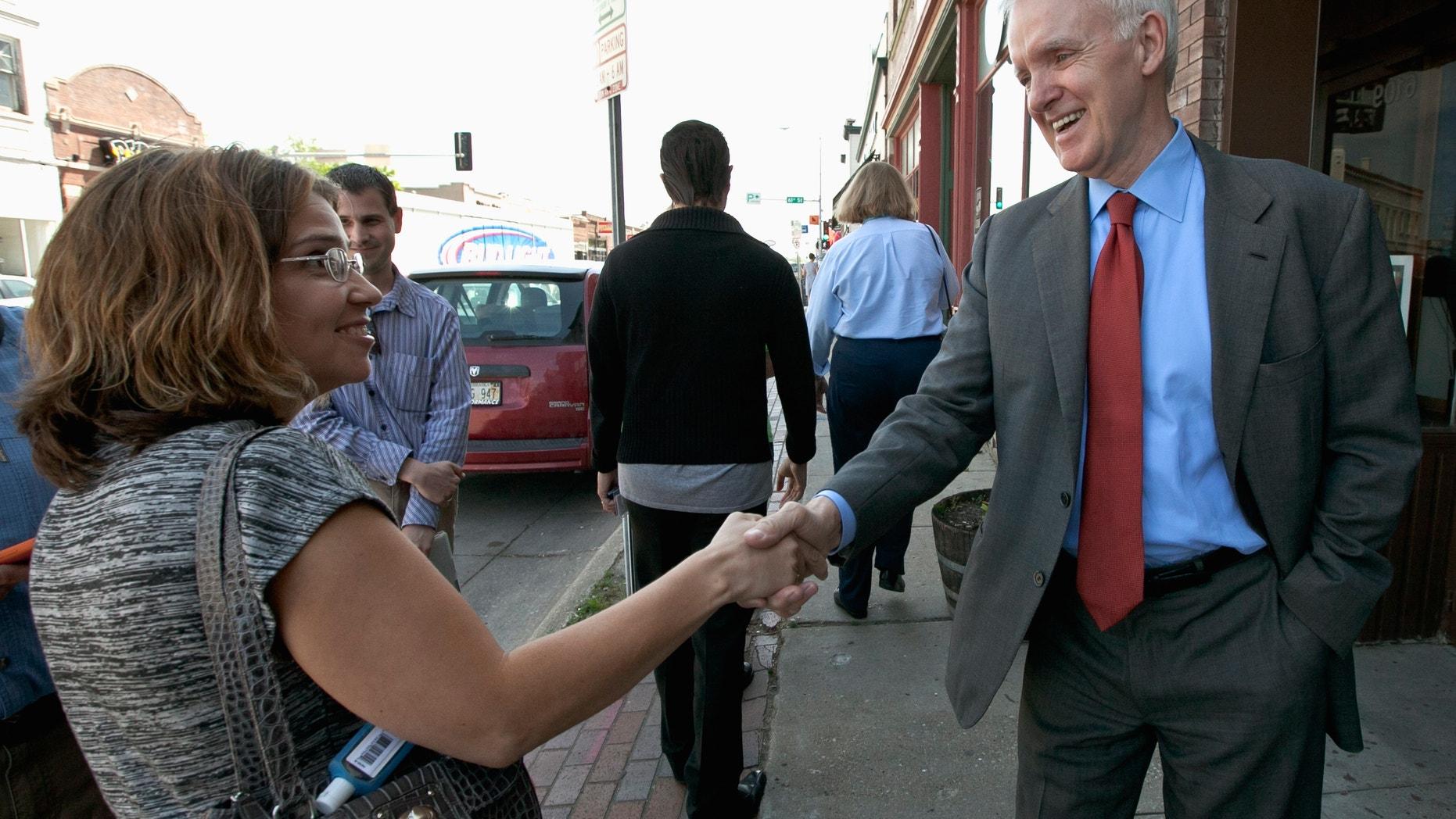 May 15, 2012: Democratic senate candidate Bob Kerrey campaigns in the Benson neighborhood of Omaha, Neb.