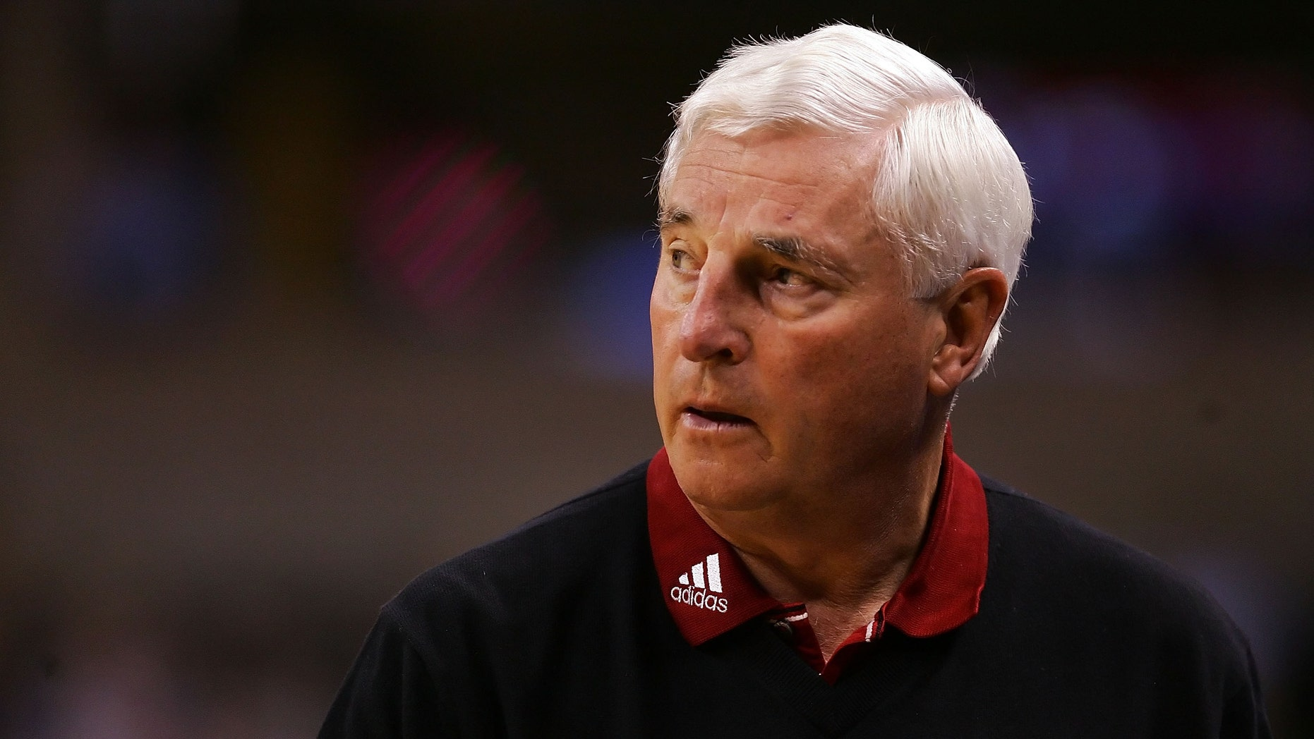 WINSTON-SALEM, NC - MARCH 15:  Head coach Bob Knight of the Texas Tech Red Raiders reacts from the sideline against the Boston College Eagles during the First Round of the 2007 NCAA Men's Basketball Tournament at Lawrence Joel Veterans Memorial Coliseum on March 15, 2007 in Winston-Salem, North Carolina.  (Photo by Streeter Lecka/Getty Images)