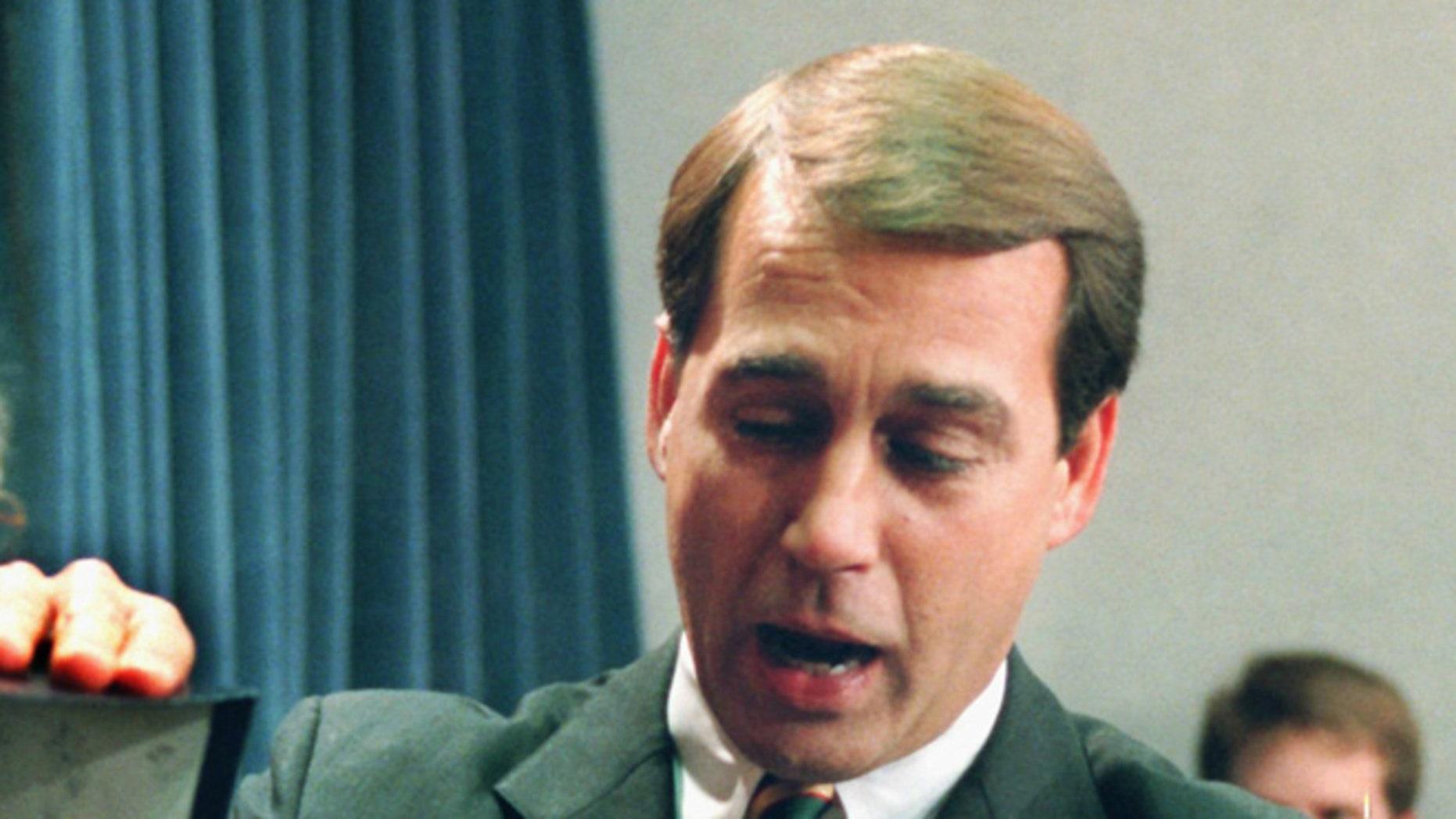 FILE: Dec. 21, 1995: Ohio Rep. John Boehner on Capitol Hill, Washington, D.C.