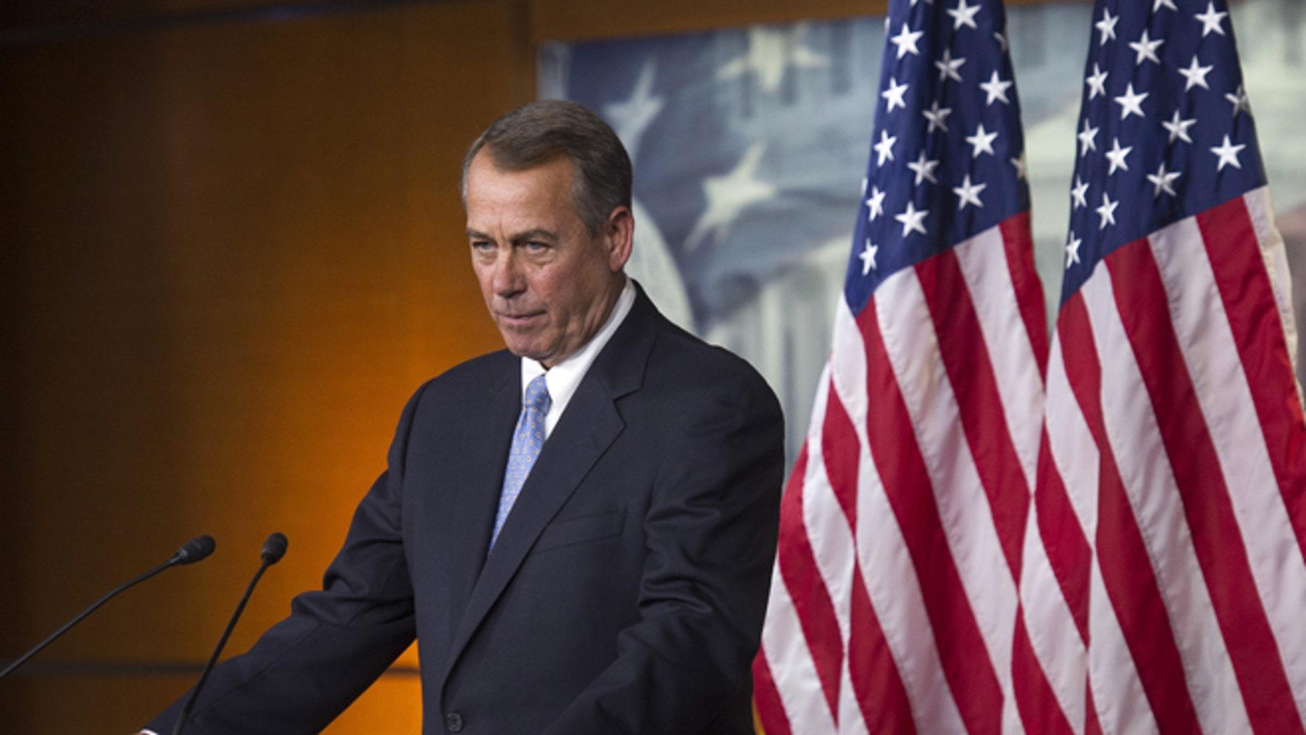 Nov. 6, 2014: House Speaker John Boehner at news conference on Capitol Hill, in Washington, D.C.