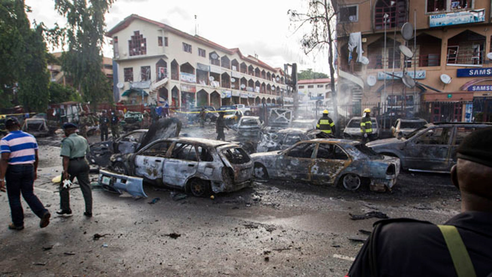 FILE: June 25, 2014: The terror group Boko Haram has taken credit for this fatal bomb blast in Abuja, Nigeria.