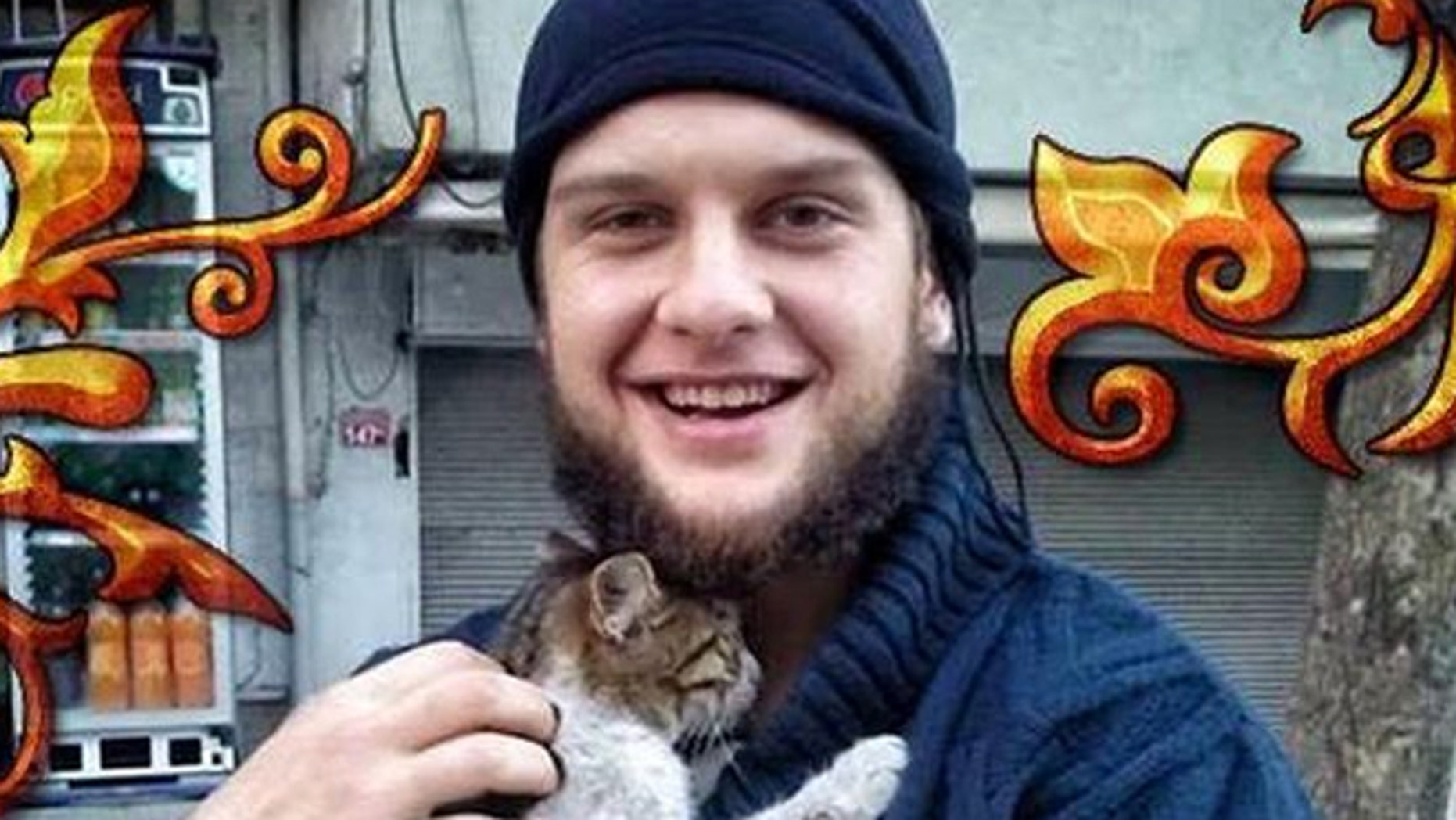 A widely circulated photo purportedly shows the American suicide bomber in Syria.