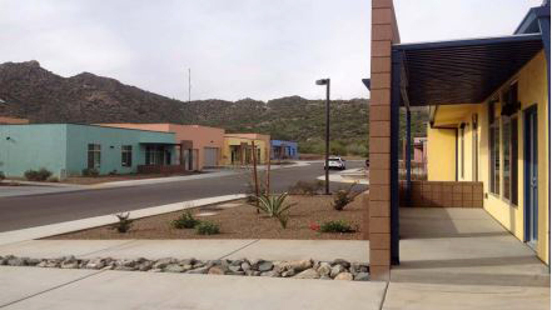 Houses used by Border Patrol agents who live in Ajo, Arizona.