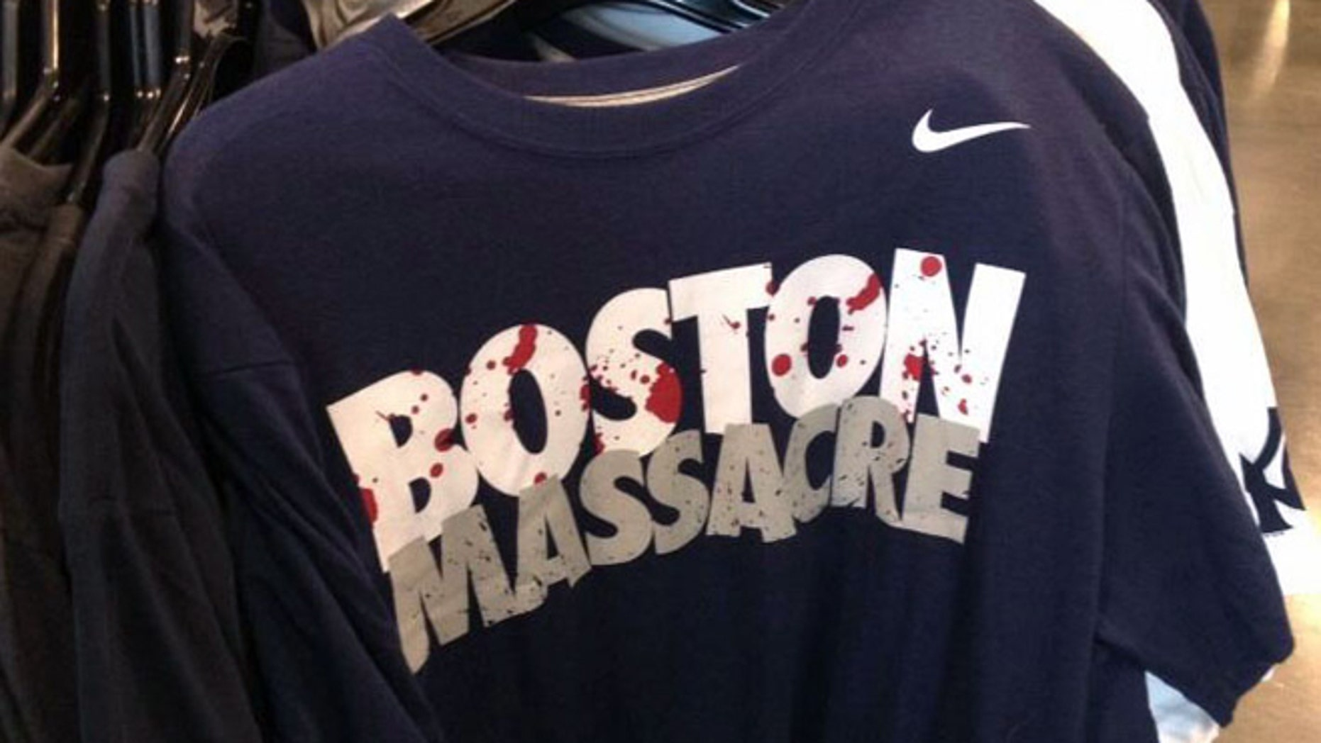 This undated  photo shows a Nike shirt for sale at a Nike Outlet.