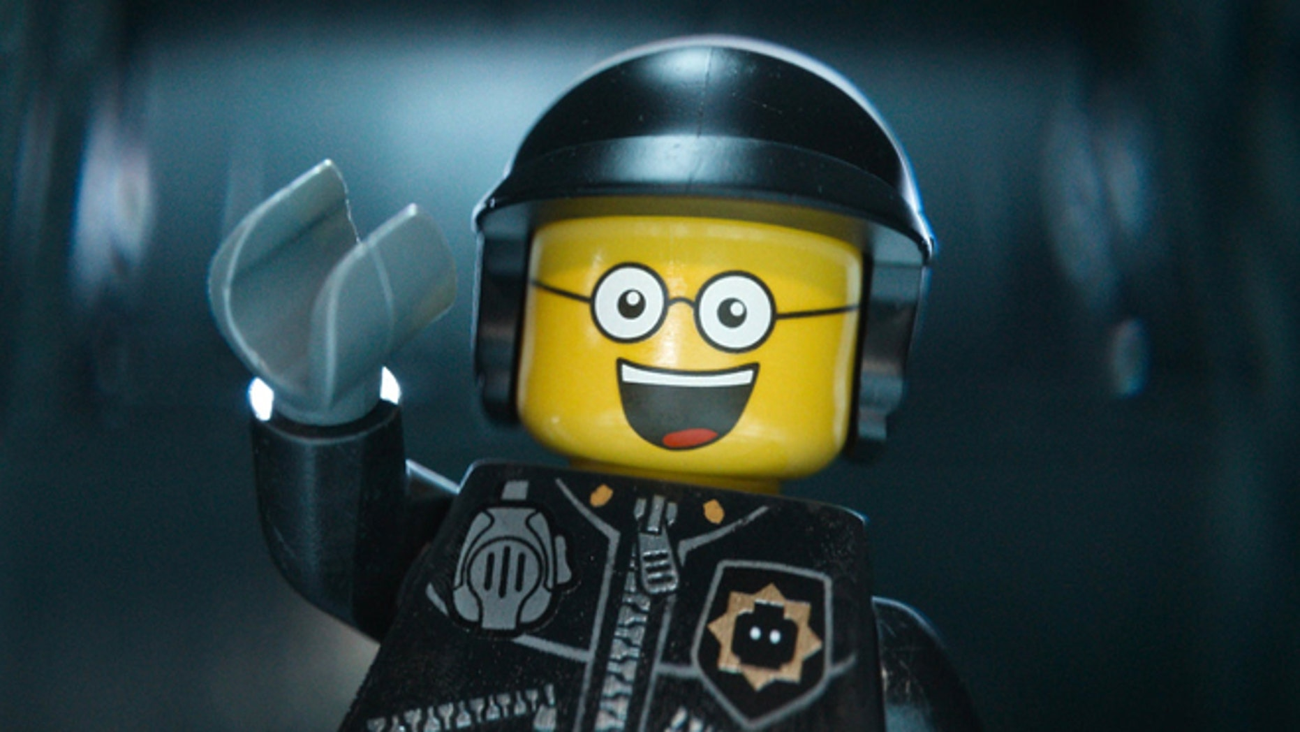 "This image released by Warner Bros. Pictures shows the character Bad Cop/Good Cop, voiced by Liam Neeson, in a scene from ""The Lego Movie."" The Lego Movie is expected to take the top spot at the box office in its second weekend. (AP Photo/Warner Bros. Pictures, file)"
