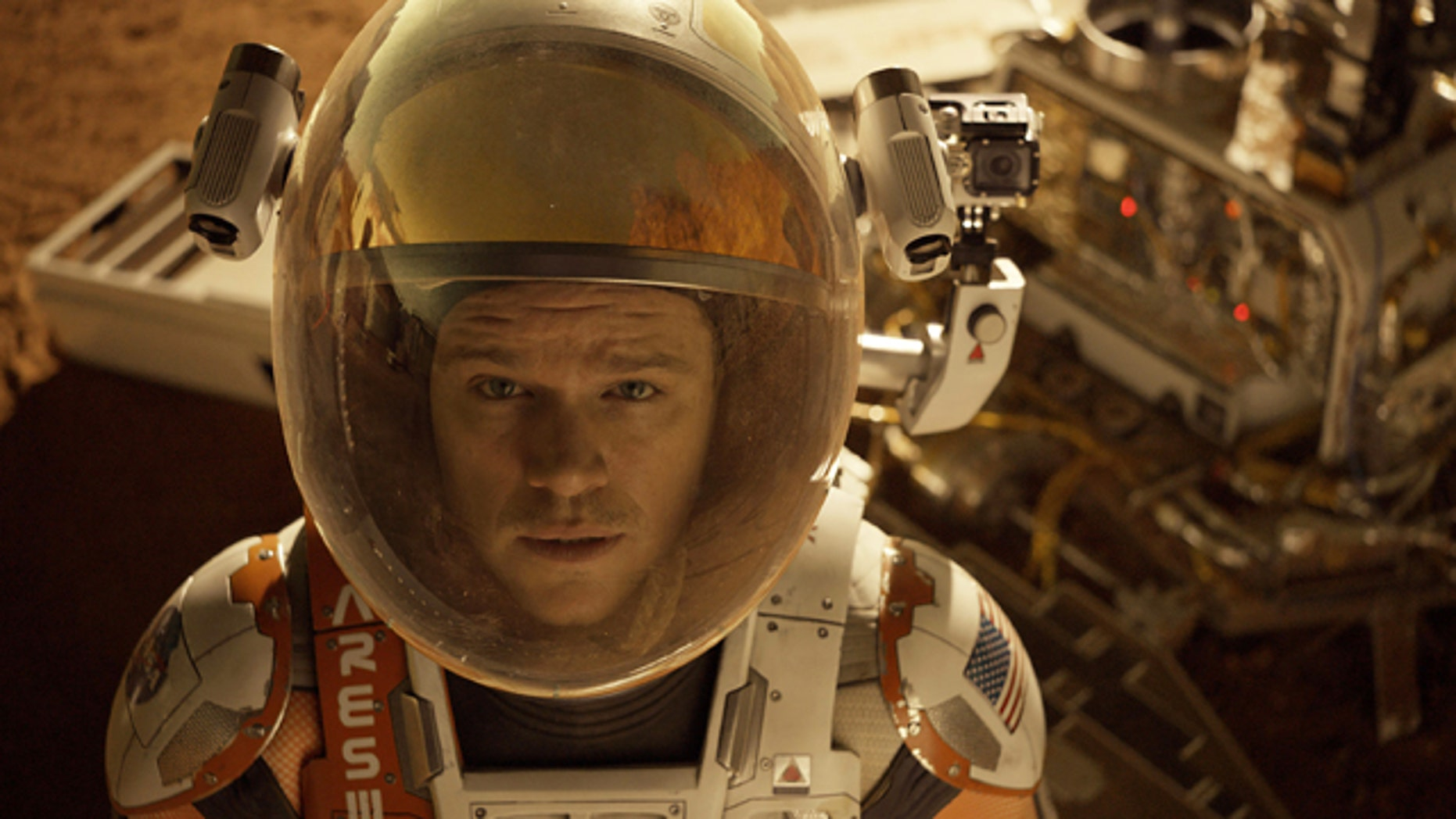 This photo released by 20th Century Fox shows Matt Damon in a scene from the film, 'The Martian.'  (Aidan Monaghan/20th Century Fox via AP)