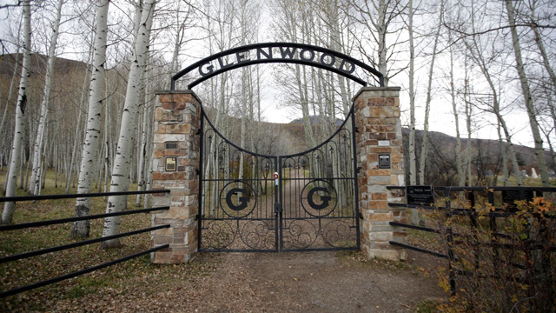 Oct. 29, 2015: The Glenwood Cemetery gate is shown in Park City, Utah. (AP Photo/Rick Bowmer)