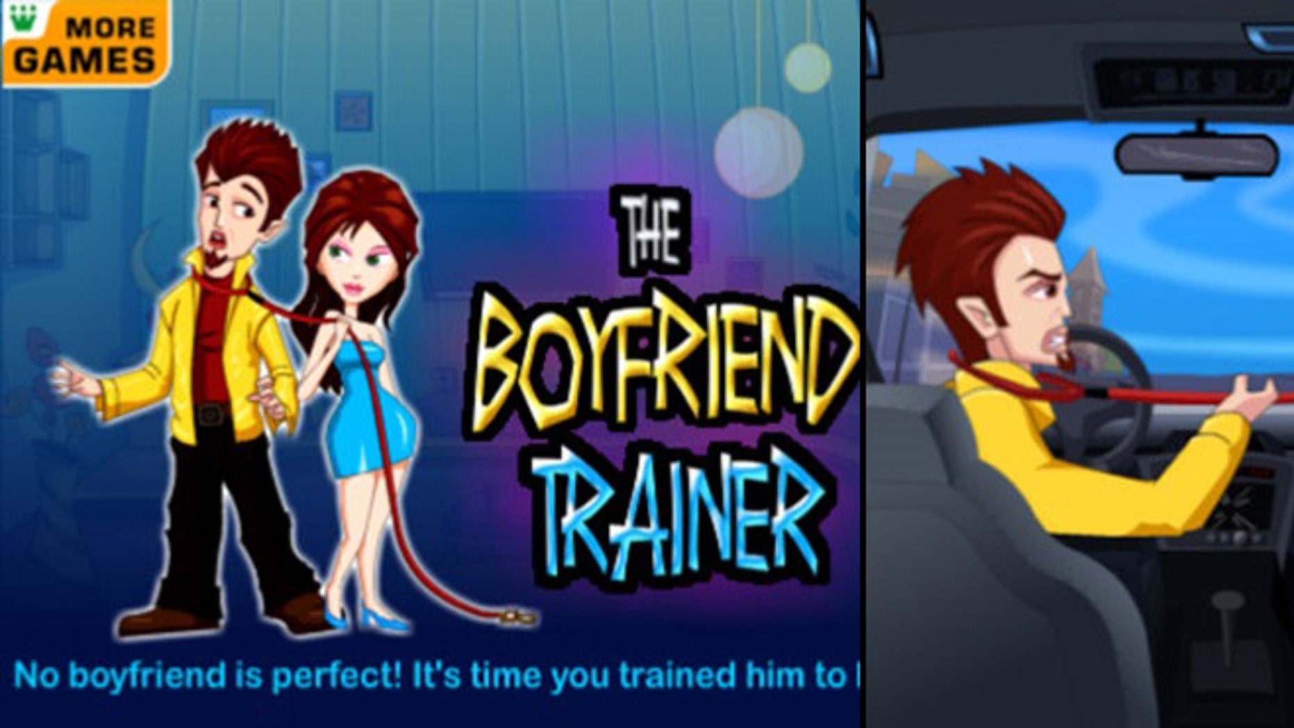 "The ""Boyfriend Trainer"" app suggests that ""when scolding doesn't work, just zap him, whack him and train him to be your ideal man!"""