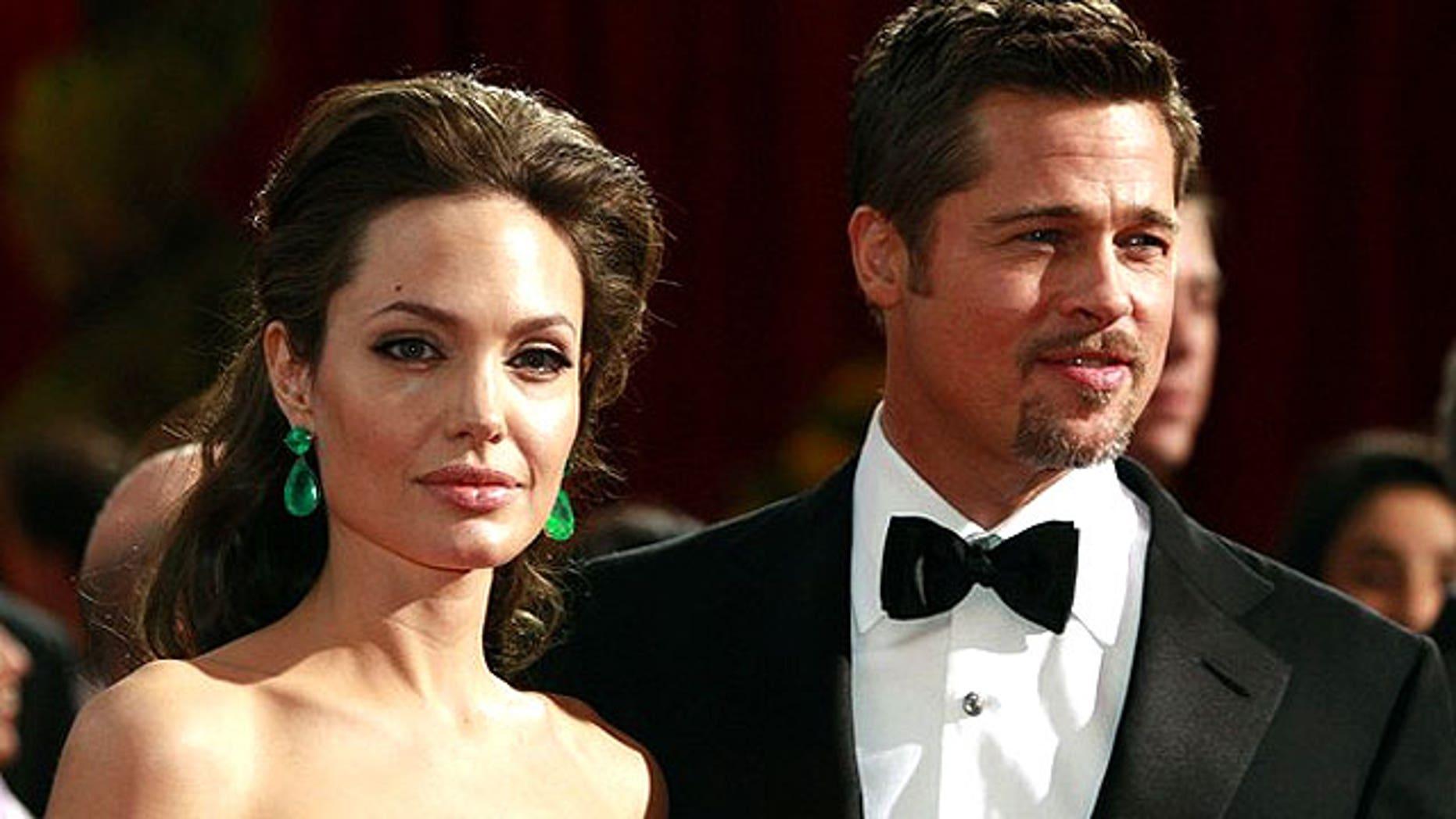 FILE: Angelina Jolie and Brad Pitt