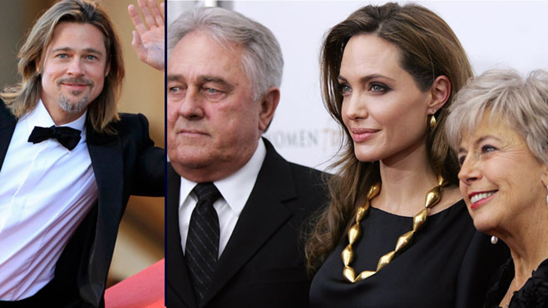 Brad Pitt's parents, seen at right with Angelina Jolie, don't seem to share the same beliefs as their famous son and soon-to-be daughter-in-law.