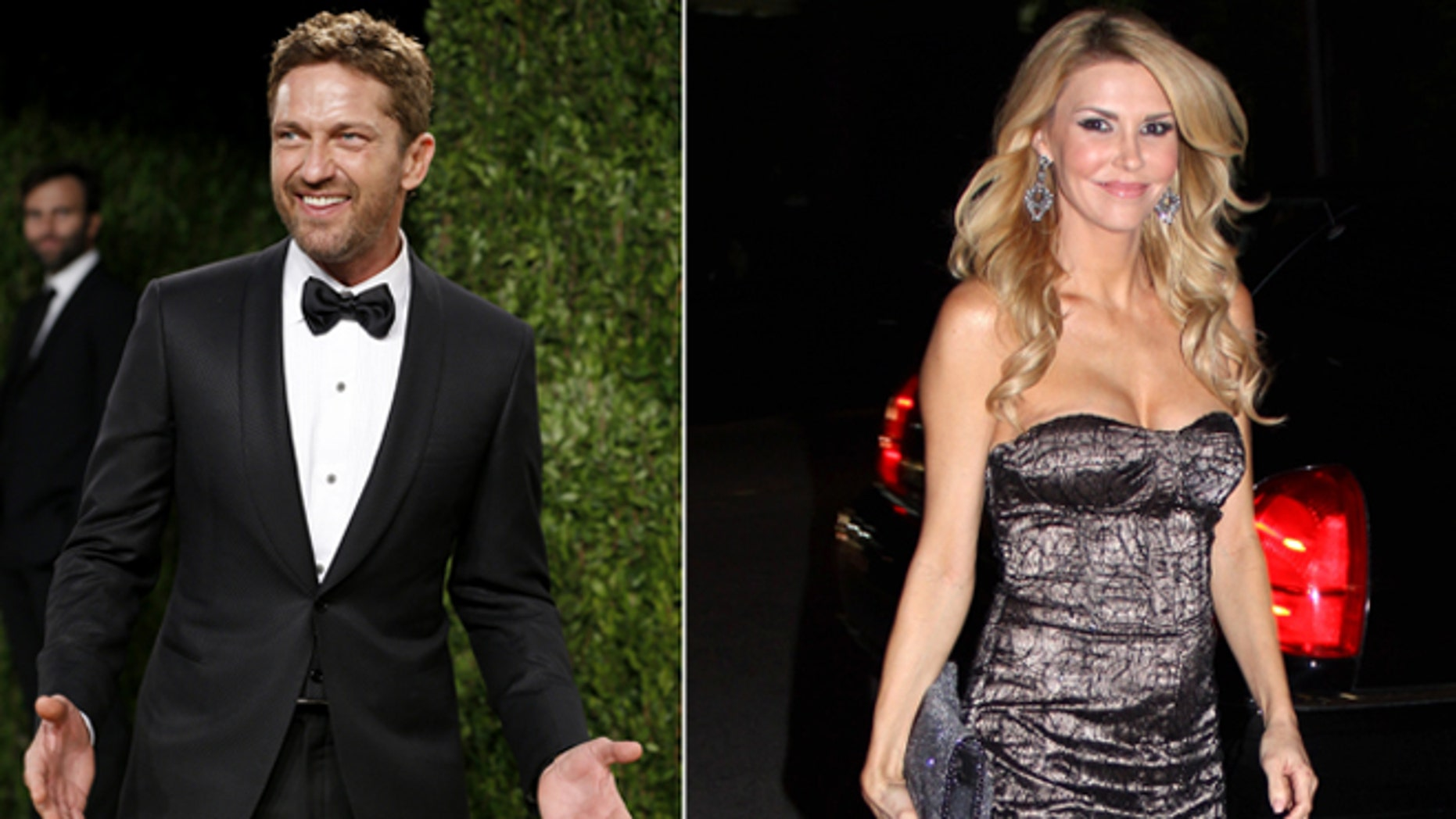 Gerard Butler, left, and Brandi Glanville.