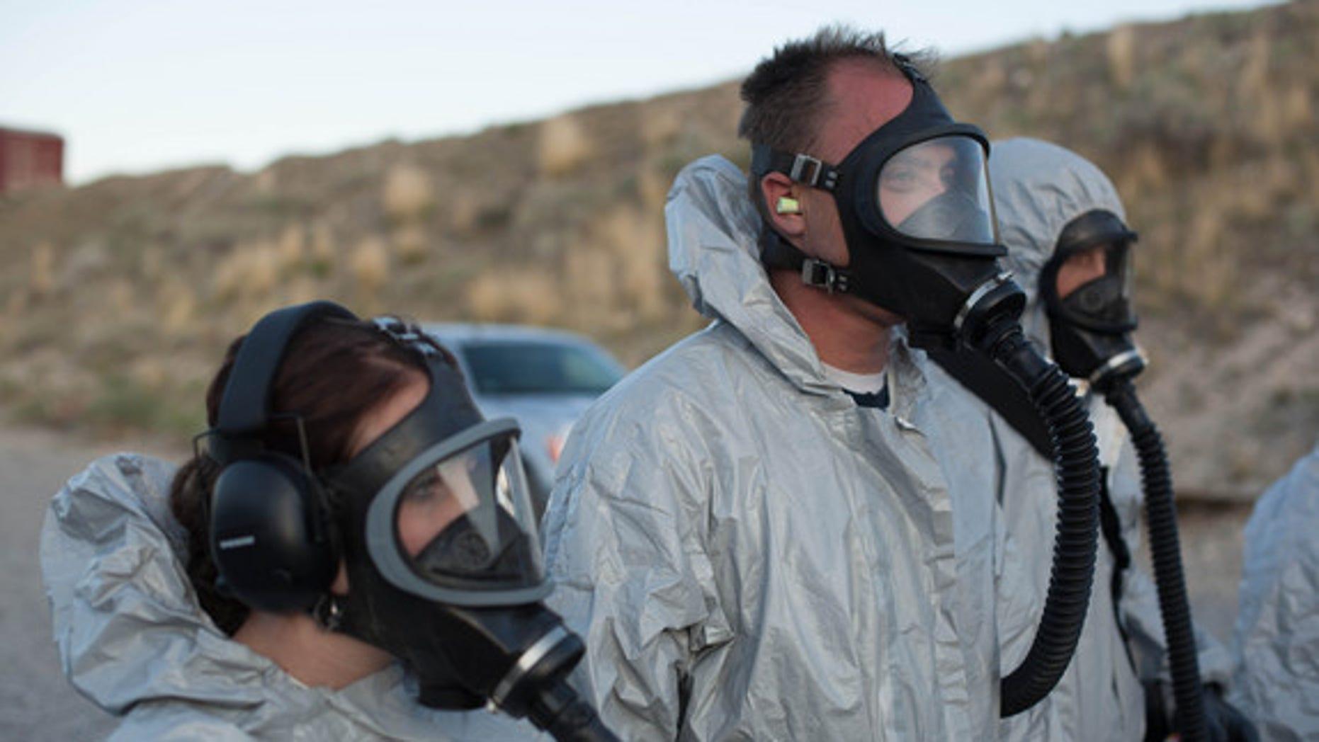 Braxton Southwick and his daughter Rylee prepare for a smallpox epidemic in West Jordan, Utah.