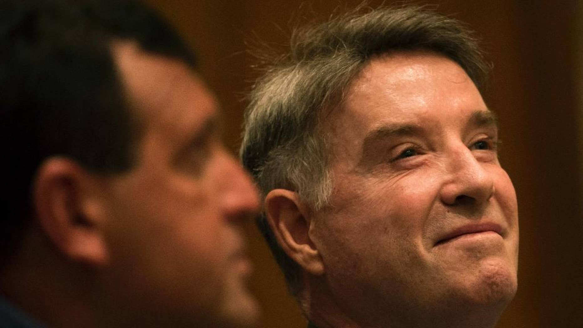 FILE - In this Nov. 18, 2014 file photo, former billionaire Eike Batista, a Brazilian tycoon once named No. 7 on Forbes' list of the world's richest people, attends his hearing at a federal criminal court in Rio de Janeiro, Brazil. On Tuesday, April 28, 2015, a Rio de Janeiro judge has ordered the return of Batista's seized property, who's now fighting inside trading and other charges. (AP Photo/Felipe Dana, File)