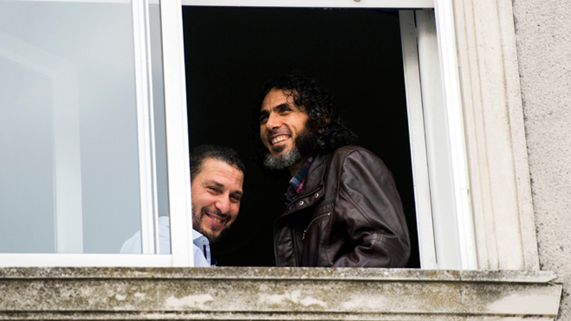 Abu Wa'el Dhiab, from Syria, right, and Adel bin Muhammad El Ouerghi, of Tunisia, both freed Guantanamo Bay detainees.