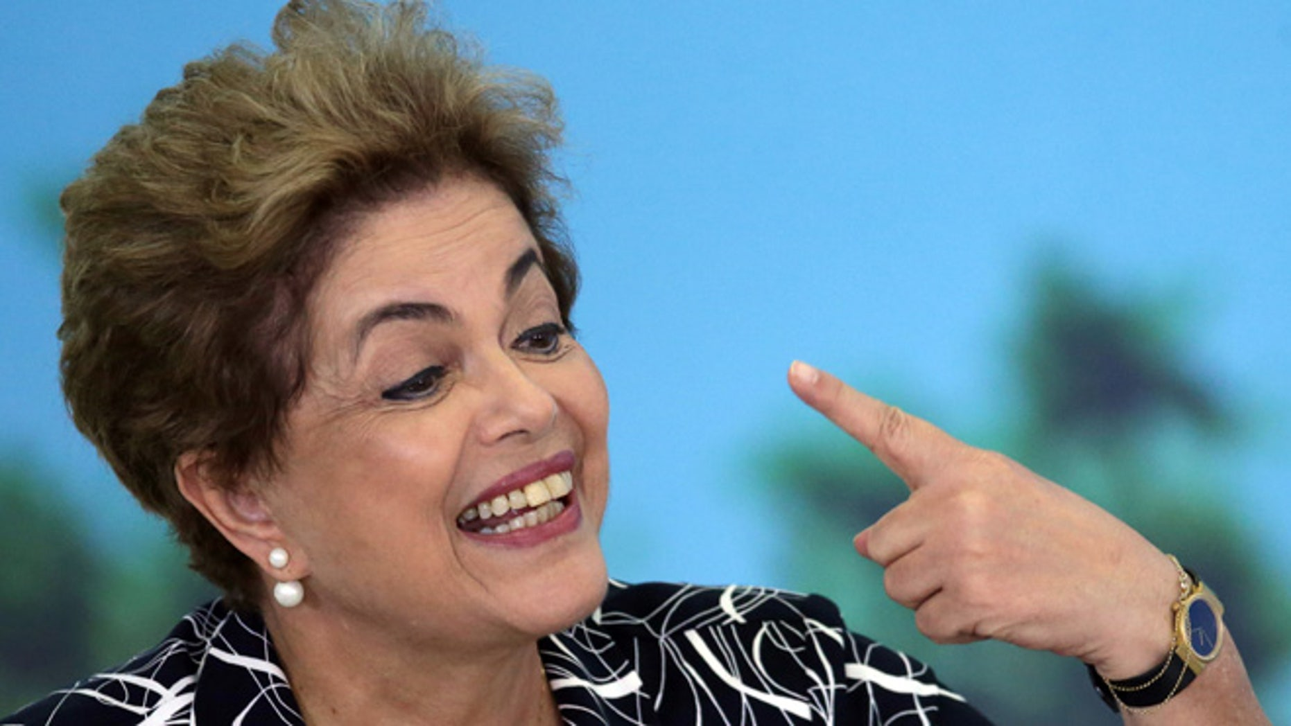 Brazil's President Dilma Rousseff at Planalto presidential palace in Brasilia, Brazil, Friday, May 6, 2016.