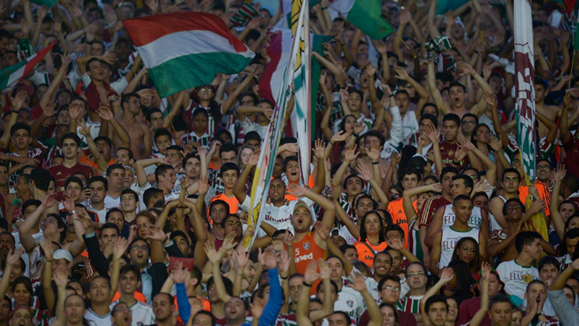 RIO DE JANEIRO, BRAZIL - NOVEMBER 14: A general view of fans of Fluminense during the match between Fluminense and Nautico for the Brazilian Series A 2013 at Maracana on November 14, 2013 in Rio de Janeiro, Brazil. (Photo by Alexandre Loureiro/Getty Images)