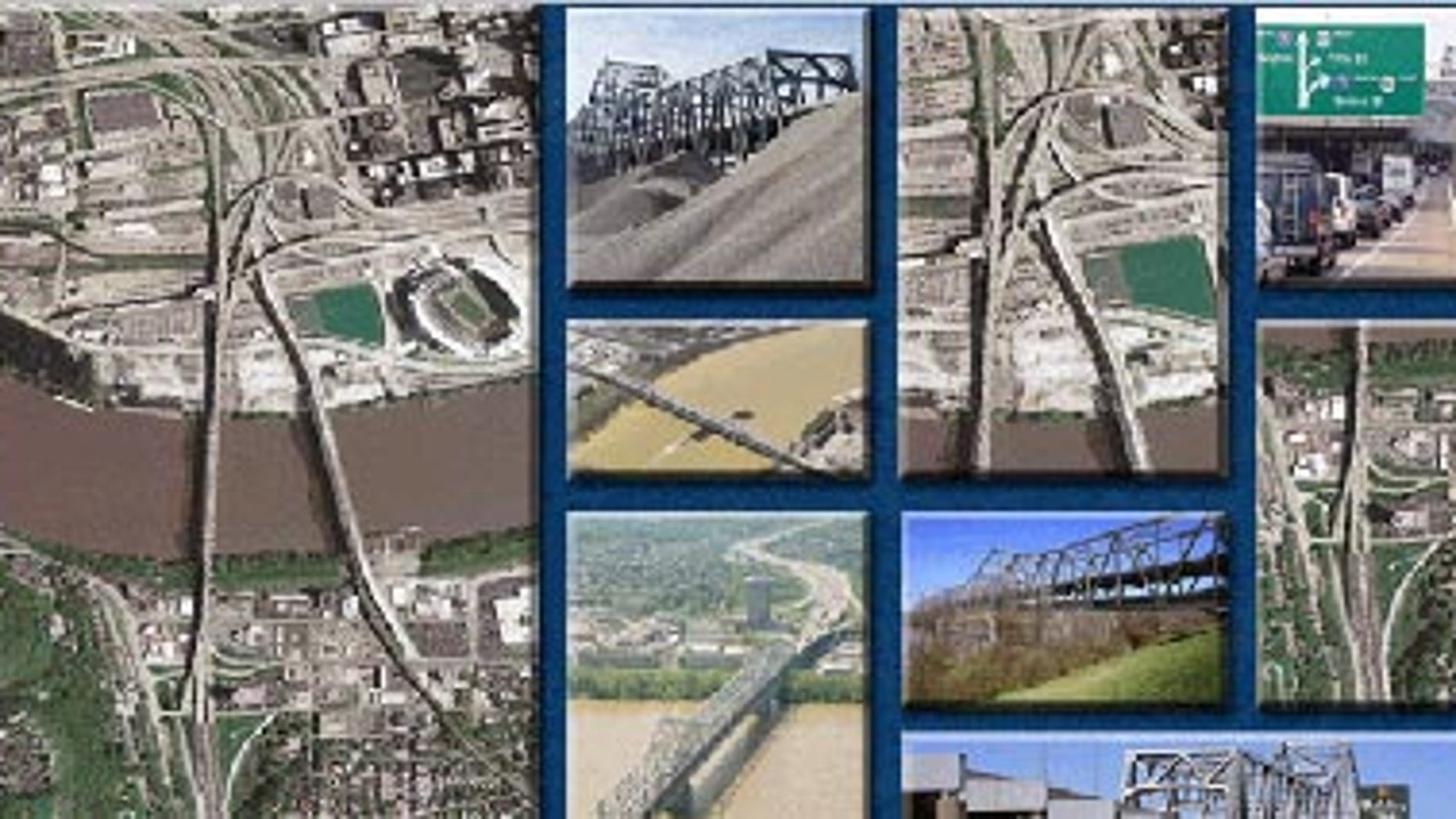 The Brent Spence Bridge on Interstate 75 connects Ohio to Kentucky, and is in dire need of repairs, the U.S. Department of Transportation says.