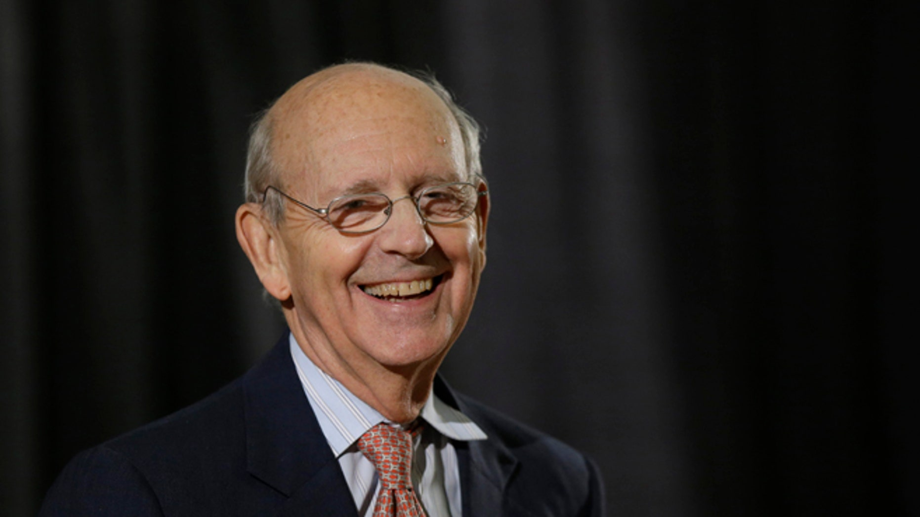 FILE: Jan. 24, 2013: Supreme Court Justice Stephen Breyer at a lecture at Boston University School of Law in Boston. Mass.